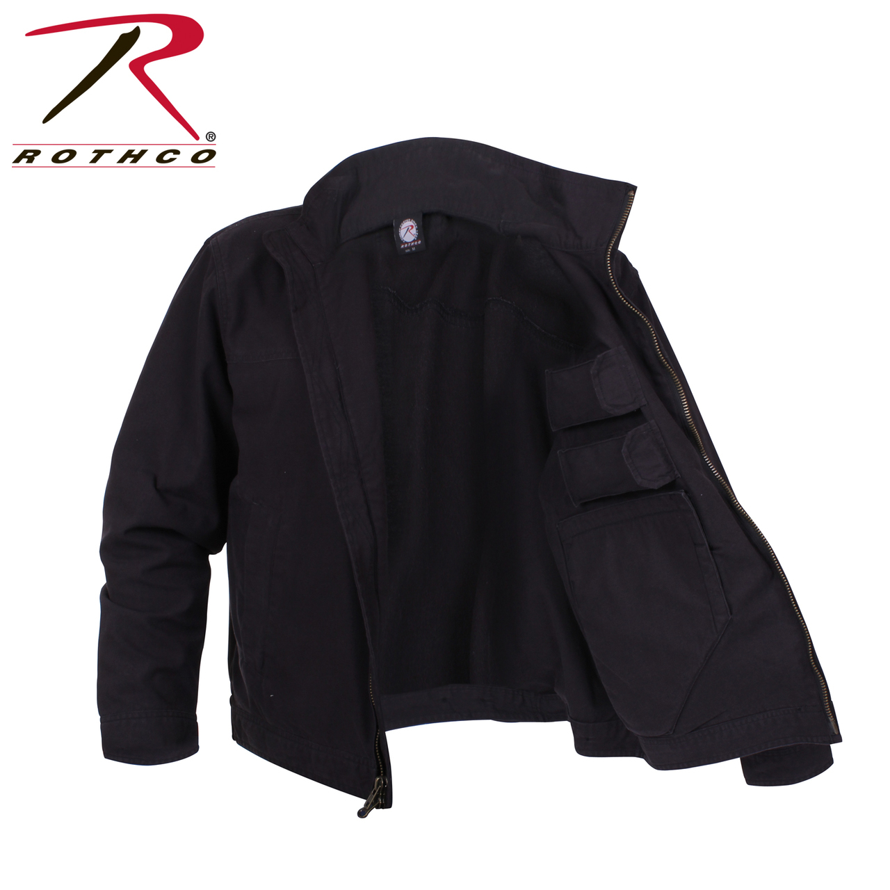 Rothco's Lightweight Concealed Carry Jacket has 2 inner pockets for concealed carry, one on each side, as well as 2 inner mag pockets on each side for ammo. The mirroring pockets on both the left and right, give the jacket a unique ambidextrous feature. This tactical jacket is made from a lightweight cotton/polyester blend and features 2 zippered front pockets & adjustable button wrist closures.