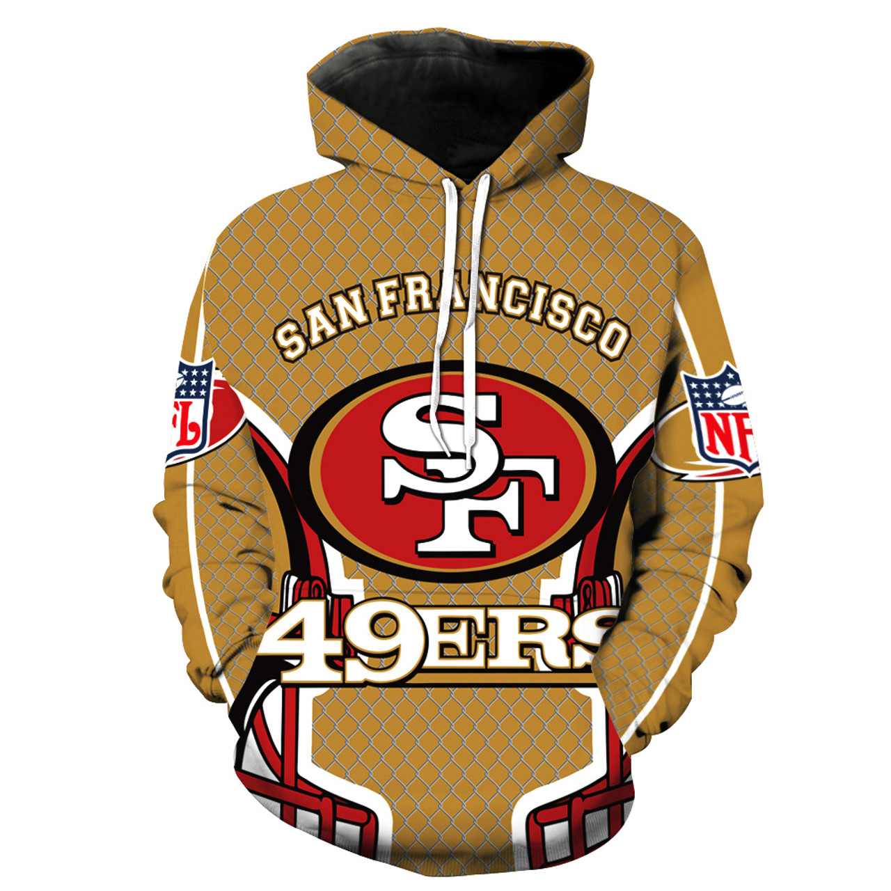 new product 373db c6311 49ers military hoodie
