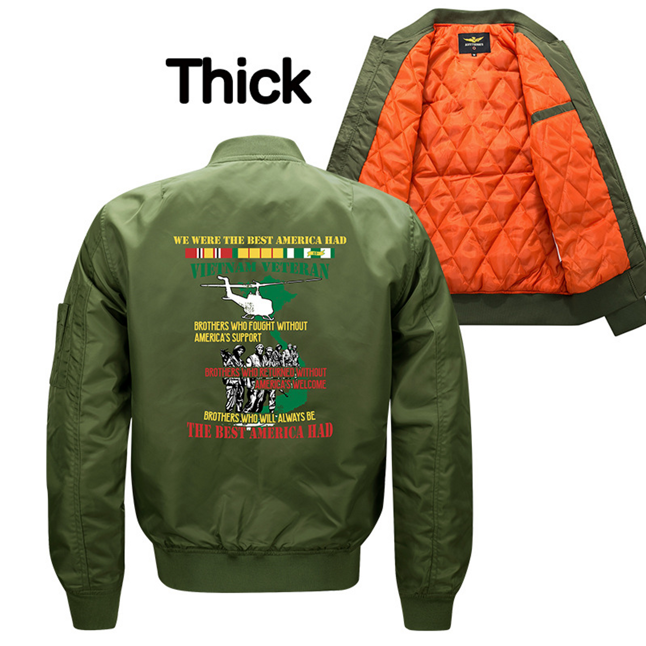 36293293f **NEW-OFFICIALLY-LICENSED-U.S.  VIETNAM-VETERAN,MENS-HEAVY-WEIGHT-THICK-FLIGHT/BOMBER-JACKETS,WE-WERE-THE-BEST-AMERICA-HAD  & BROTHERS-IN-ARMS/U.S. ...