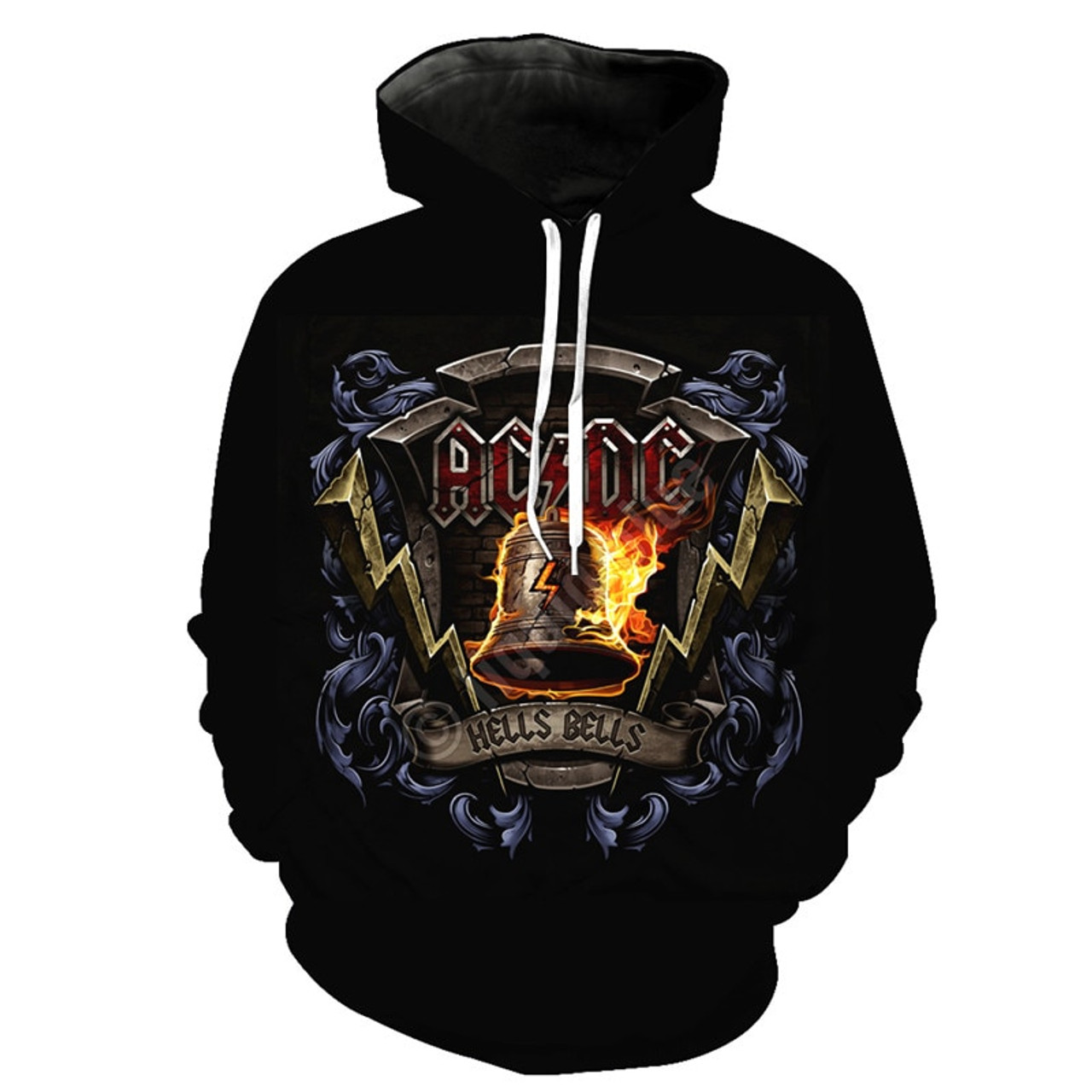 **(OFFICIALLY-LICENSED-AC/DC-CLASSIC-ROCK-BAND-AC/DC & OFFICIAL-HELLS-BELLS-3D-GRAPHIC-PRINTED-LOGO-DESIGN/NICE-WARM-PREMIUM-PULLOVER-HOODIES)**