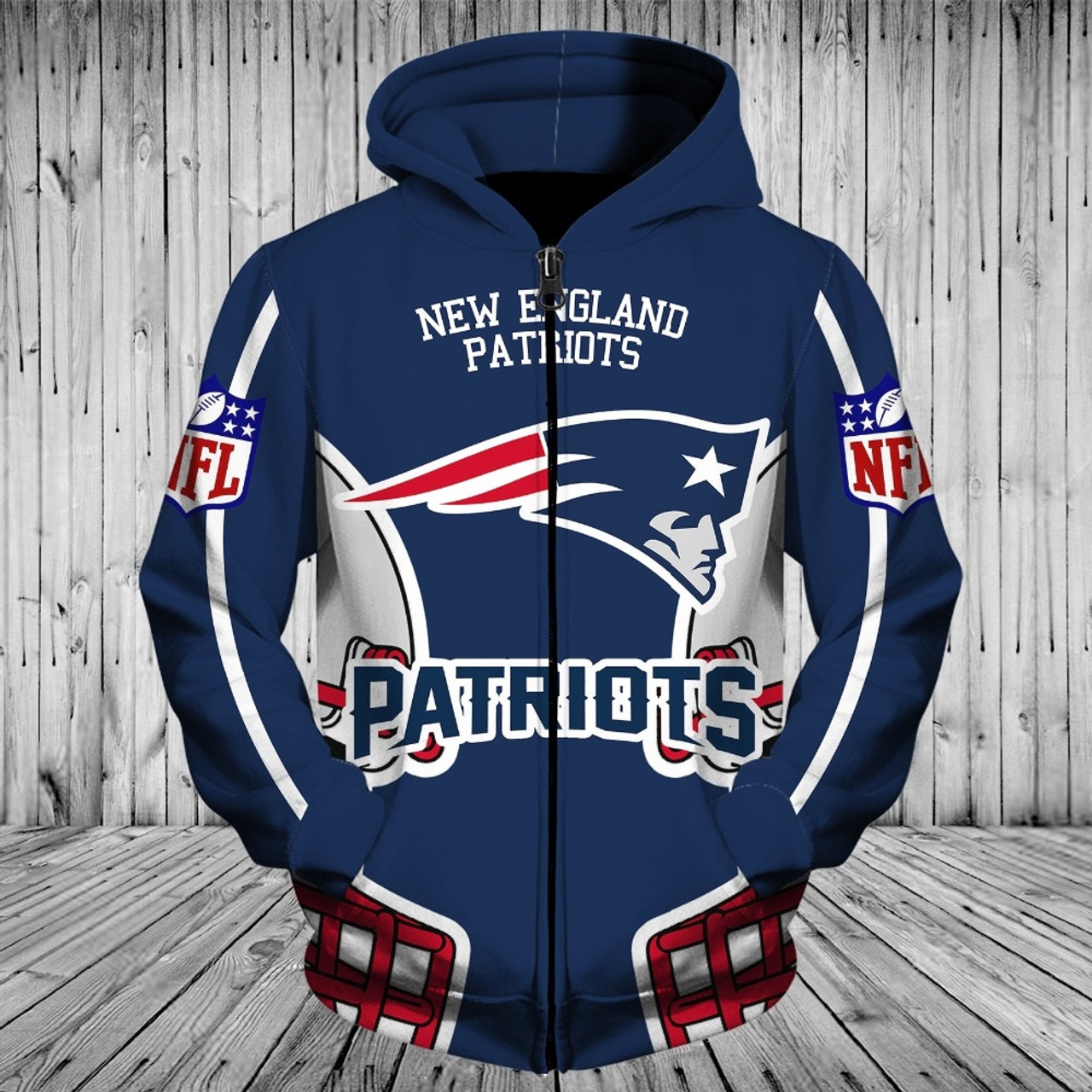 New England Patriots NFL Our Team Hooded Fleece