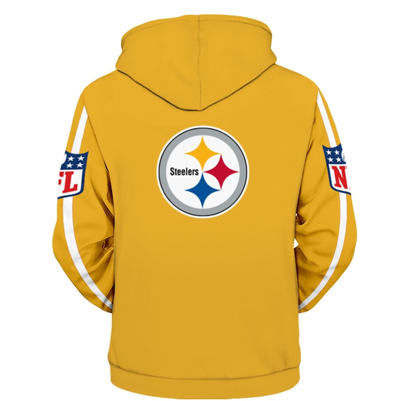 low priced ae218 827b1 **(OFFICIALLY-LICENSED-N.F.L.PITTSBURGH-STEELERS-ZIPPER-UP-FRONT-HOODIES/ALL-OVER-GRAPHIC-3D-PRINTED-IN-STEELERS-TEAM-COLORS/NICE-DETAILED-PREMIUM-DOU...