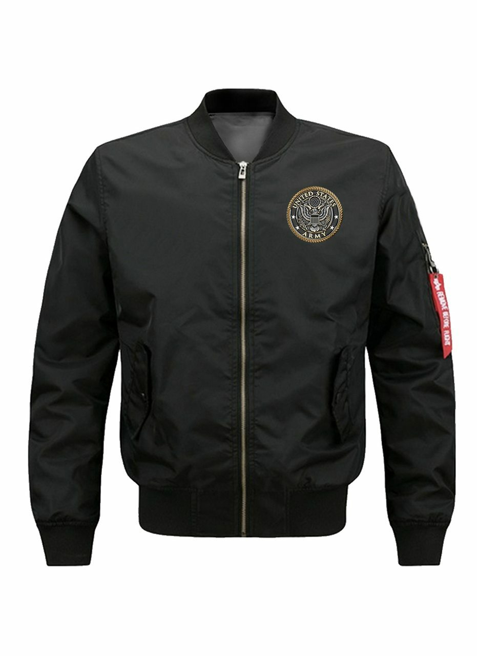 **(OFFICIALLY-LICENSED-U.S.ARMY-VETERAN-FLIGHT-JACKETS/THIS-WE'LL-DEFEND,ALL-GAVE-SOME & SOME-GAVE-ALL/NICE-GRAPHIC-PRINTED-PREMIUM-DOUBLE-SIDED,WARM & THICK-ARMY-BOMBER-FLIGHT-JACKETS:)**