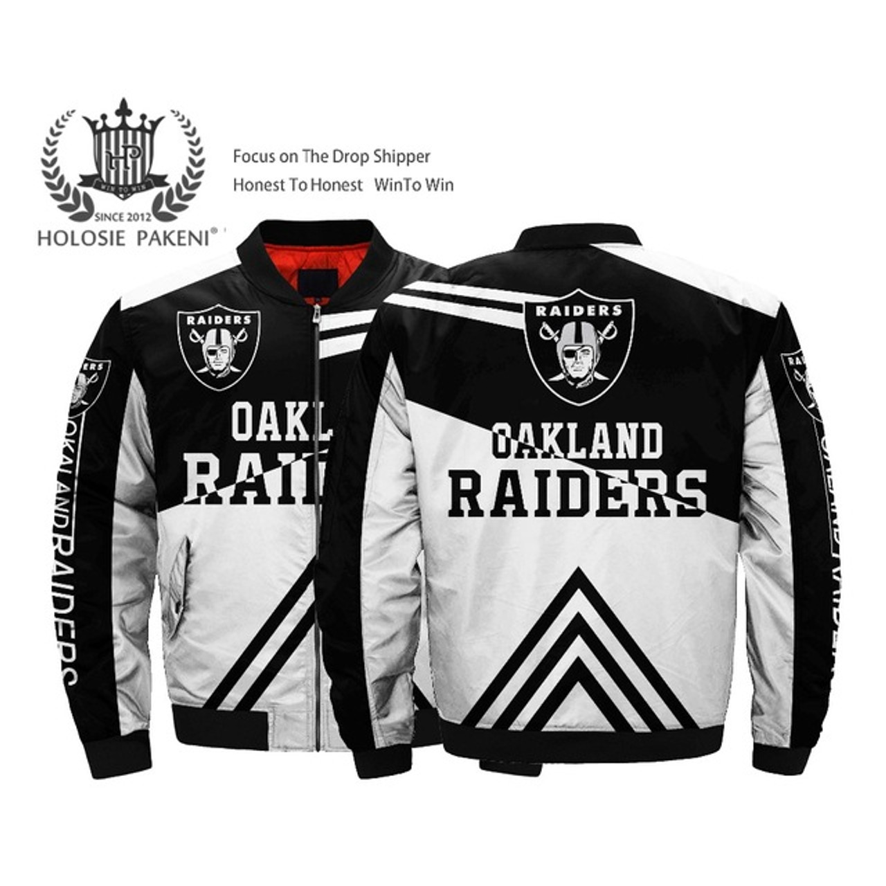 online store 6efcb df0ba **(OFFICIALLY-LICENSED-N.F.L. OAKLAND-RAIDERS &  OFFICIAL-RAIDERS-TEAM-COLORS & OFFICIAL-RAIDERS-FRONT-LOGO-BOMBER,MA-1 ...