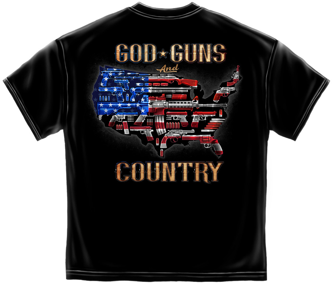 **(OFFICIAL-2ND-AMENDMENT>GOD,GUNS & COUNTRY/PATRIOTIC-RED-WHITE & BLUE-U.S.A. & GUNS,NICE-CUSTOM-3D-GRAPHIC-PRINTED,DOUBLE-SIDED-PRINT-PREMIUM-N.R.A.TEES)**