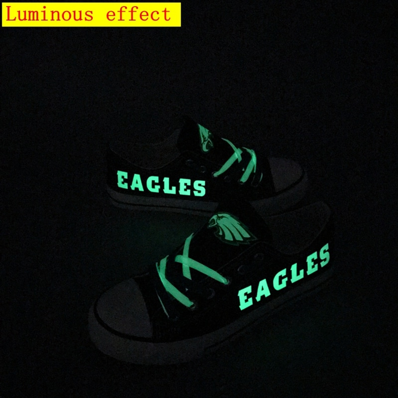 **(OFFICIALLY-LICENSED-N.F.L.PHILADELPHIA-EAGLES-RUNNING-SHOES,MENS-OR-WOMENS-ROSHE-STYLE,LIGHT-WEIGHT-SPORT-PREMIUM-RUNNING-SHOES/WITH-OFFICIAL-EAGLES-TEAM-COLORS & EAGLES-TEAM-LOGOS,SPECIAL-CUSHIONED-COMFORT-INSOLES/CUSTOM-DESIGN-RUNNING-SHOES)**
