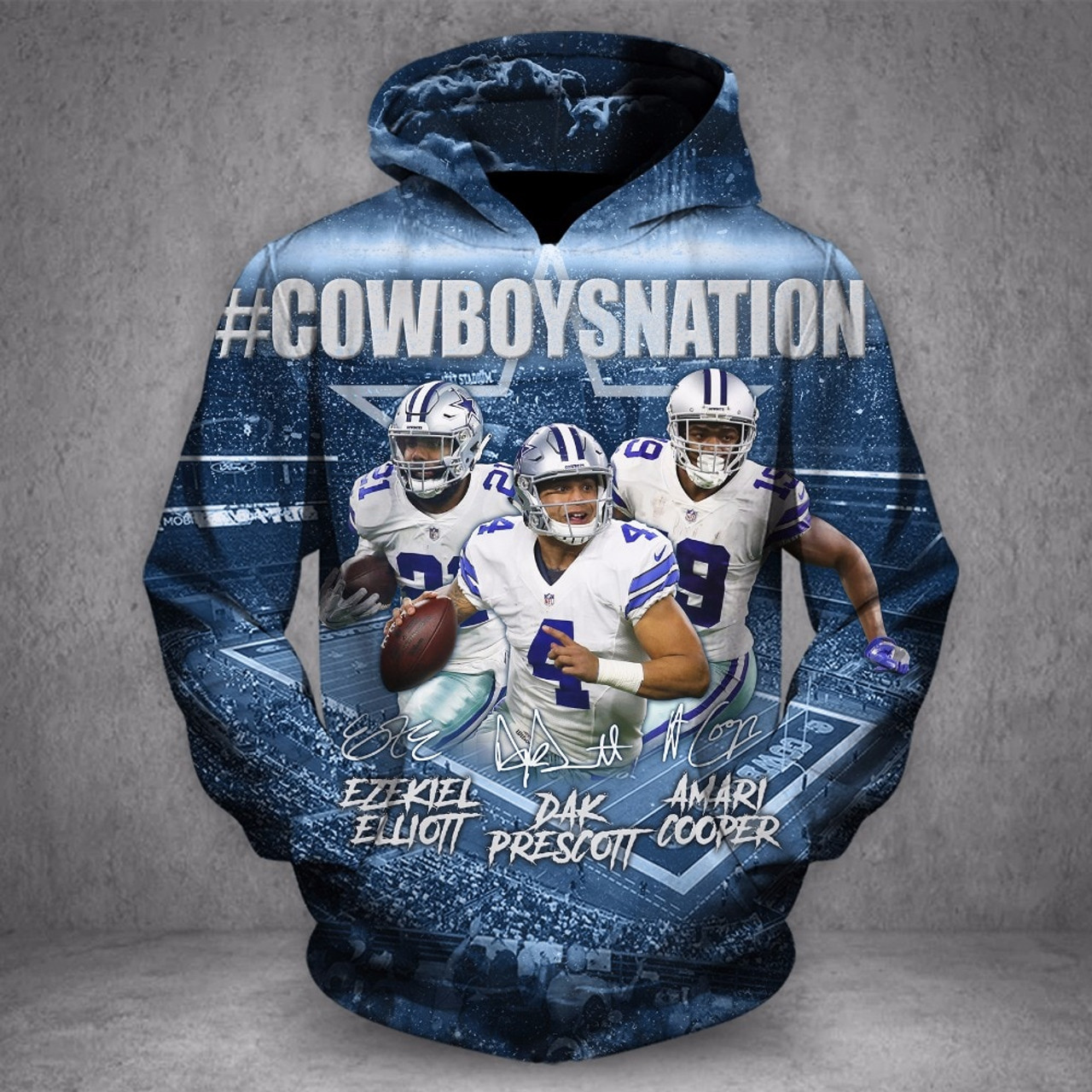 buy online ff7ba 88588 **(OFFICIALLY-LICENSED-N.F.L.DALLAS-COWBOYS-NATION &  DAK-PRESCOTT-NO.4-STYLISH-PULLOVER-HOODIES/NICE-CUSTOM-3D-GRAPHIC-PRINTED-DOUBLE-SIDED-ALL-OVER-G...