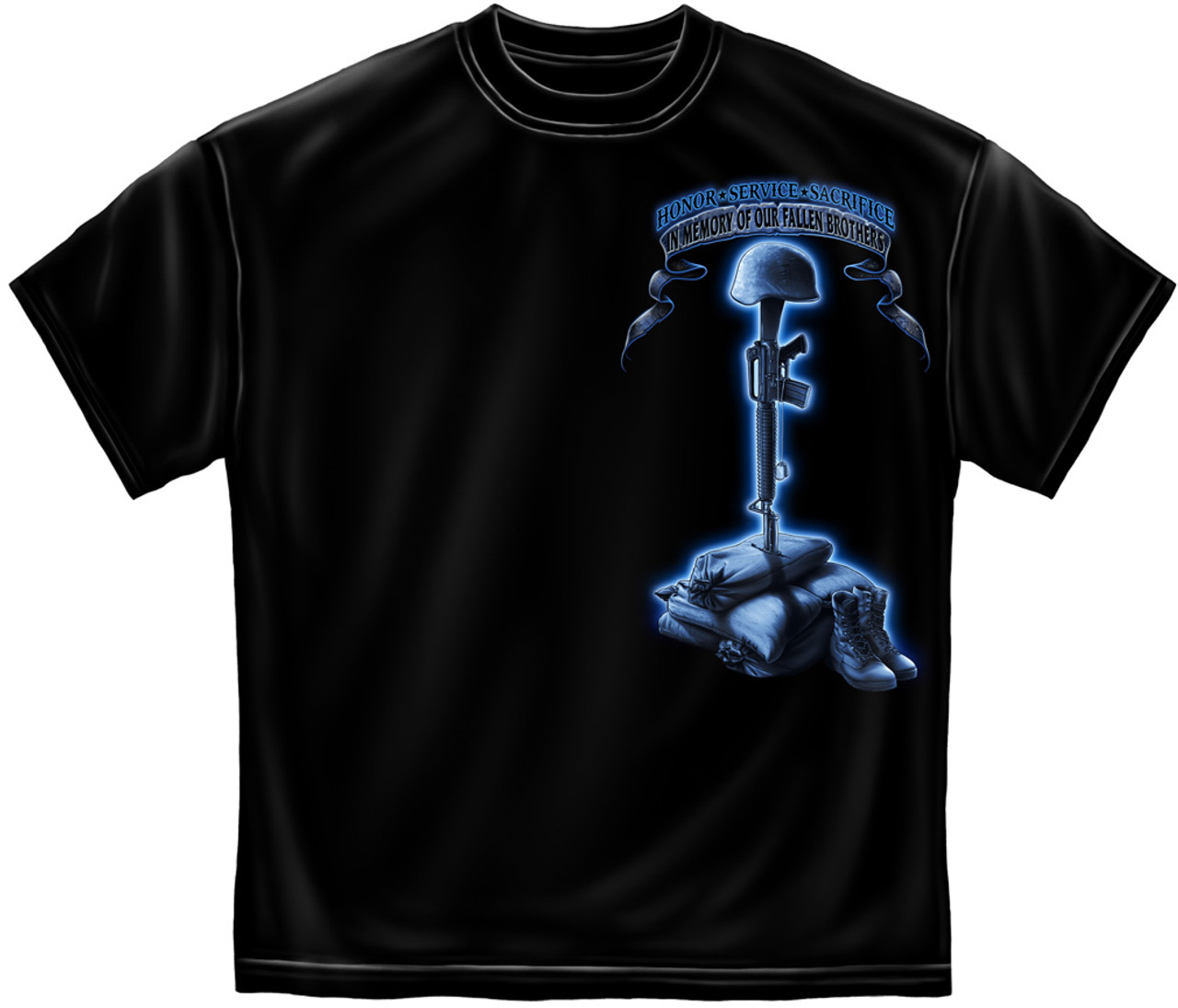 """**(OFFICIALLY-LICENSED-U.S.SERVICE-VETERANS,""""YOU-WILL-NEVER-BE-FORGOTTEN,IN-MEMORY-OF-OUR-FALLEN-BROTHERS"""",NICE-DETAILED-CUSTOM-GRAPHIC-PRINTED/PREMIUM-DOUBLE-SIDED-TEES:)**"""