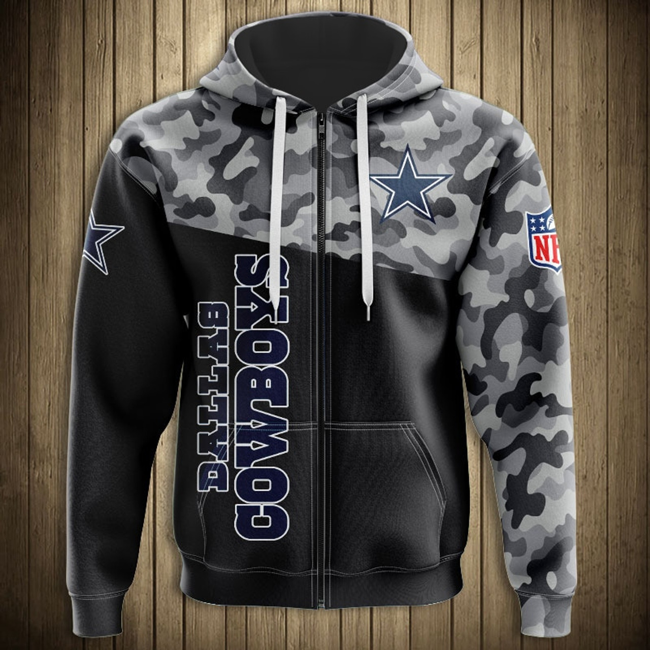 info for f4e5a 05843 **(OFFICIAL-N.F.L.DALLAS-COWBOYS-CAMO.DESIGN-ZIPPERED-HOODIES/3D-CUSTOM-COWBOYS-LOGOS  & OFFICIAL-COWBOYS-TEAM-COLORS/DETAILED-3D-GRAPHIC-PRINTED-DOUBL...
