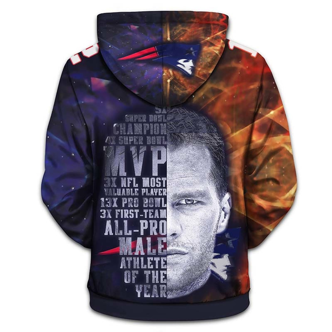 **(OFFICIALLY-LICENSED-N.F.L.NEW-ENGLAND-PATRIOTS-KING-OF-THE-NORTH & TOM-BRADY-NO.12-ZIPPERED-HOODIES/CUSTOM-3D-GRAPHIC-PRINTED-DOUBLE-SIDED-ALL-OVER-GRAPHICS,IN-PATRIOTS-TEAM-COLORS/WARM-PREMIUM-ZIP-UP-FRONT-OFFICIAL-N.F.L.PATRIOTS-TEAM-HOODIES)**