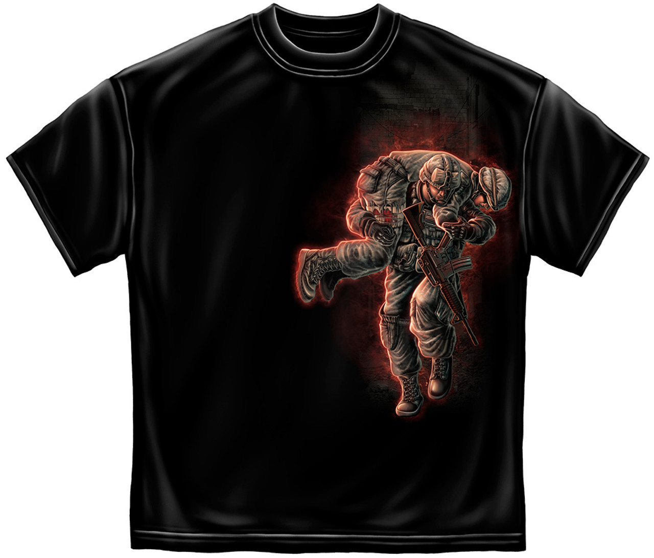 """(OFFICIALLY-LICENSED-U.S.VETERAN,""""U.S.SOLDIER-NO-ONE-GETS-LEFT-BEHIND"""",ALL-DOUBLE-SIDED-IN-BLACK,NICE-GRAPHIC-PRINTED-PREMIUM-TEES:)"""