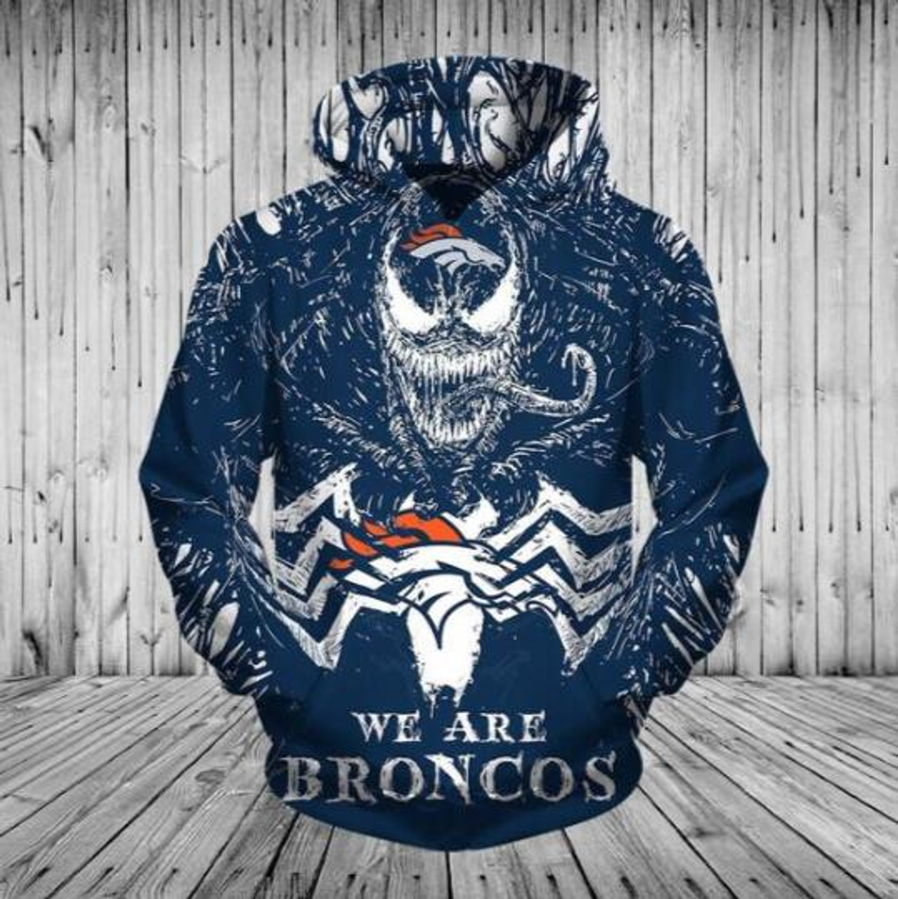 best service 929e0 2458e **(OFFICIALLY-LICENSED-N.F.L.DENVER-BRONCOS,CLASSIC-VENOM-HORROR-MOVIE-CHARACTER  & WE-ARE-DENVER-BRONCOS/NICE-DETAILED-PREMIUM-CUSTOM-3D-GRAPHIC-PRINT...