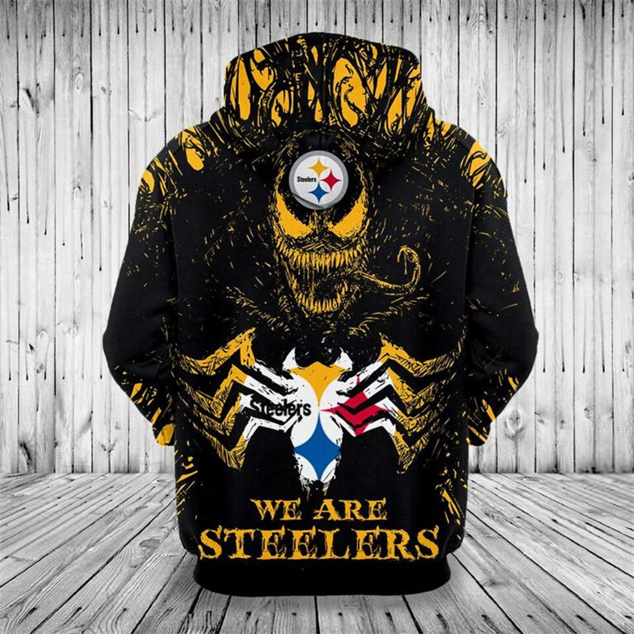 Official N F L Pittsburgh Steelers Classic Venom Horror Movie Character We Are Steelers Nice Detailed Premium