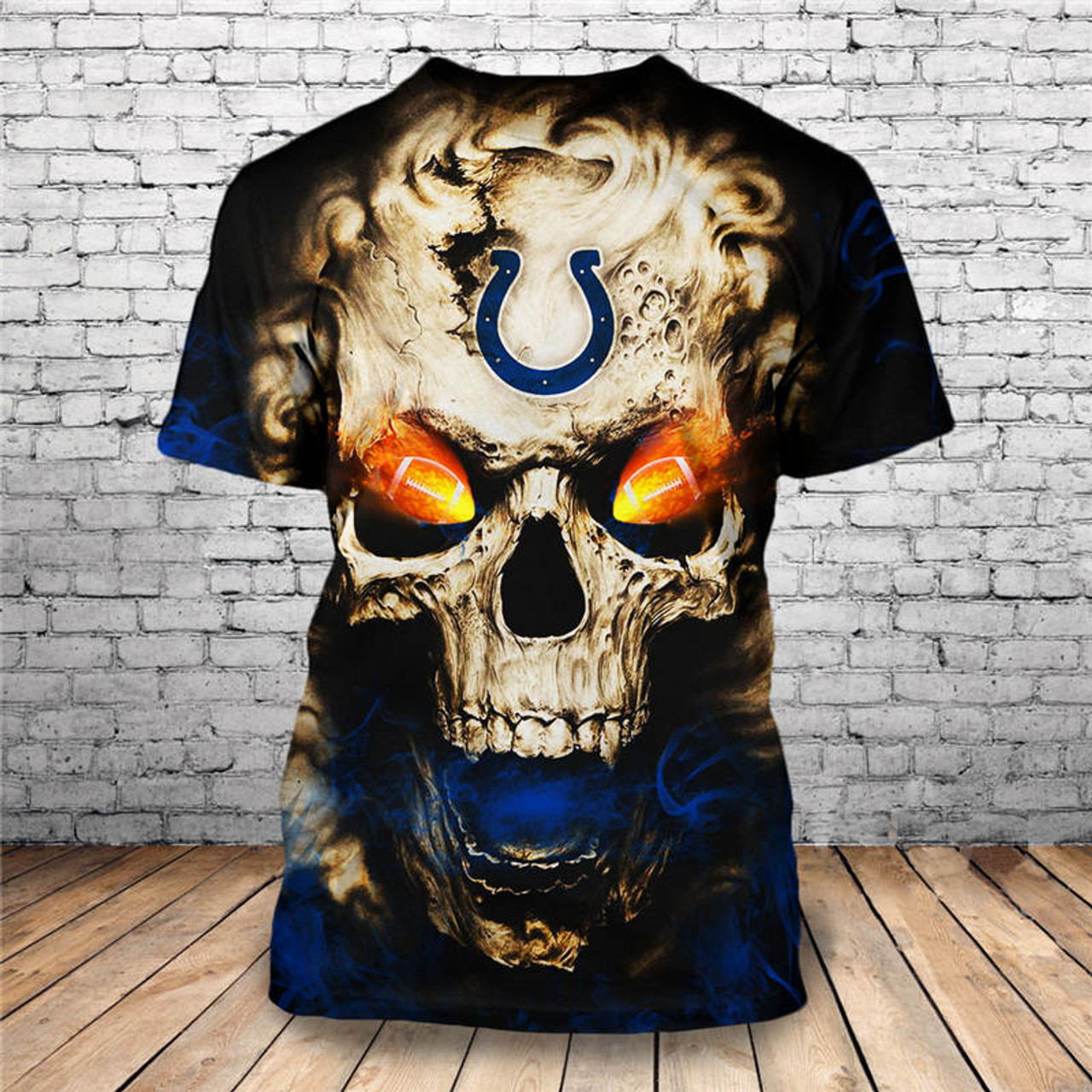 965b3fb7 **(OFFICIALLY-LICENSED-N.F.L.INDIANAPOLIS-COLTS,TRENDY-SHORT-SLEEVE-TEES &  NEON-GLOWING-FIERY-COLTS-FOOTBALL-EYES,NICE-CUSTOM-3D-GRAPHIC-PRINTED-ALL-O...