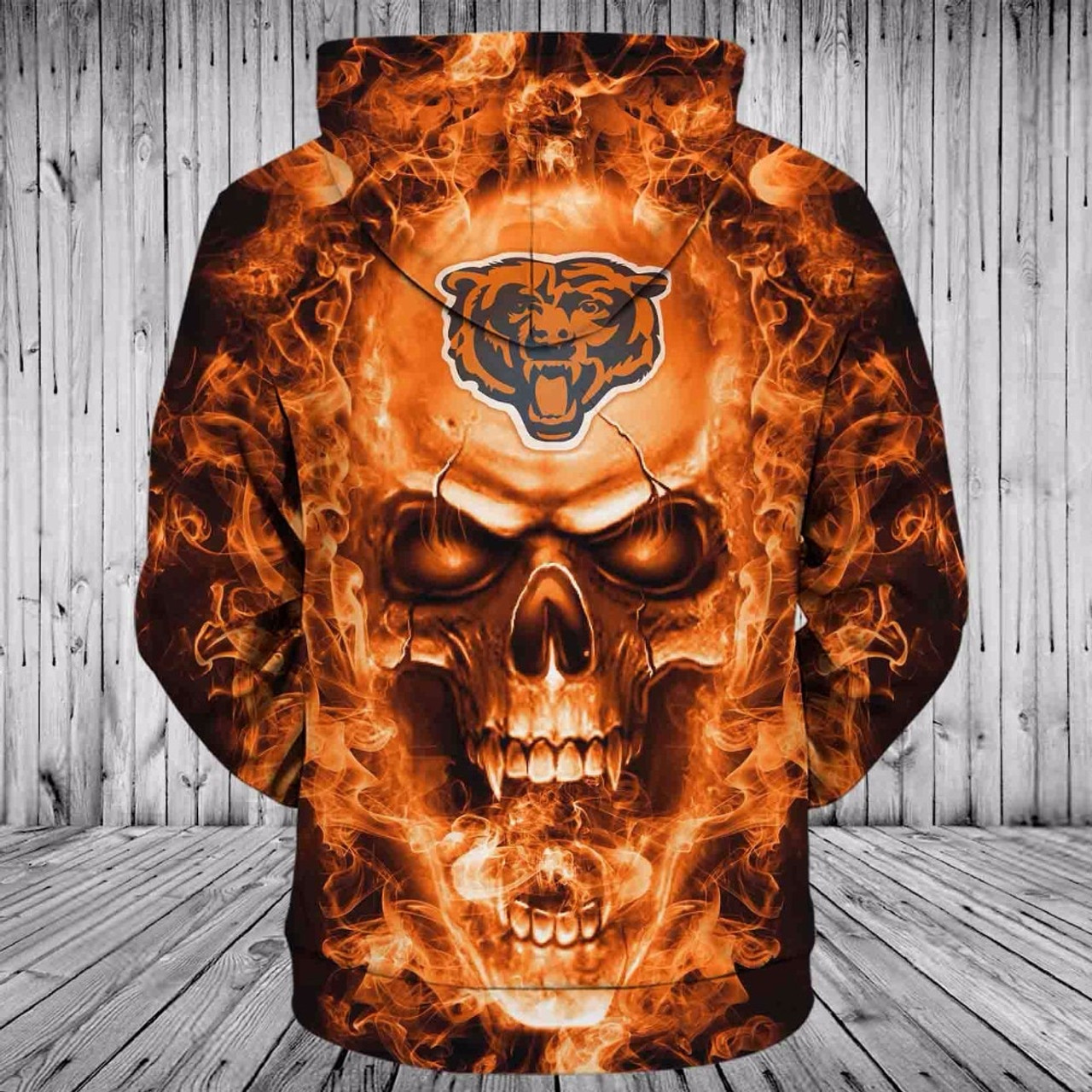 **(OFFICIAL-N.F.L.CHICAGO-BEARS-TEAM-NEON-SKULL-PULLOVER-HOODIES/CUSTOM-3D-NEON-GRAPHIC-PRINTED-DOUBLE-SIDED-ALL-OVER-OFFICIAL-BEARS-TEAM-LOGOS,IN-BEARS-TEAM-COLORS/WARM-PREMIUM-OFFICIAL-N.F.L.BEARS-TEAM-TRENDY-PULLOVER-POCKET-HOODIES)**