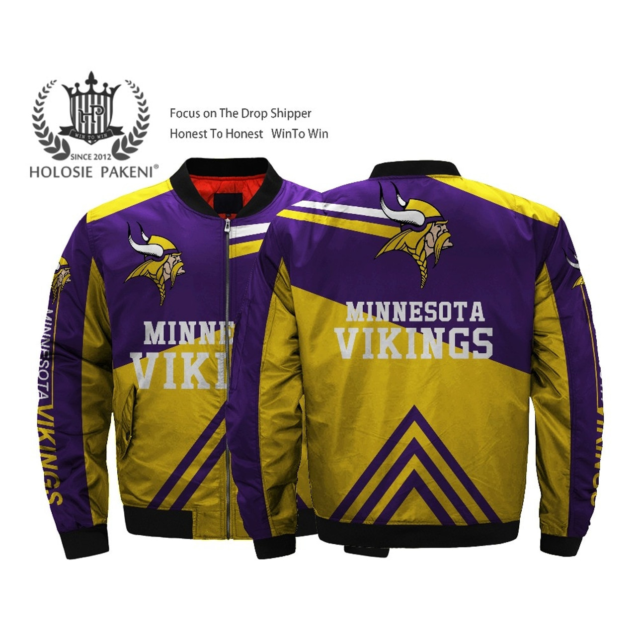 **(OFFICIALLY-LICENSED-N.F.L.MINNESOTA-VIKINGS-JACKETS/CLASSIC-VIKINGS-TEAM-COLORS & OFFICIAL-VIKINGS-LOGOS,BOMBER/MA-1 FLIGHT-JACKET,NICE-CUSTOM-3D-ALL-OVER-GRAPHIC-PRINTED-DOUBLE-SIDED/ZIP-UP-FRONT-WARM-PREMIUM-N.F.L.VIKINGS-FLIGHT-JACKETS)**