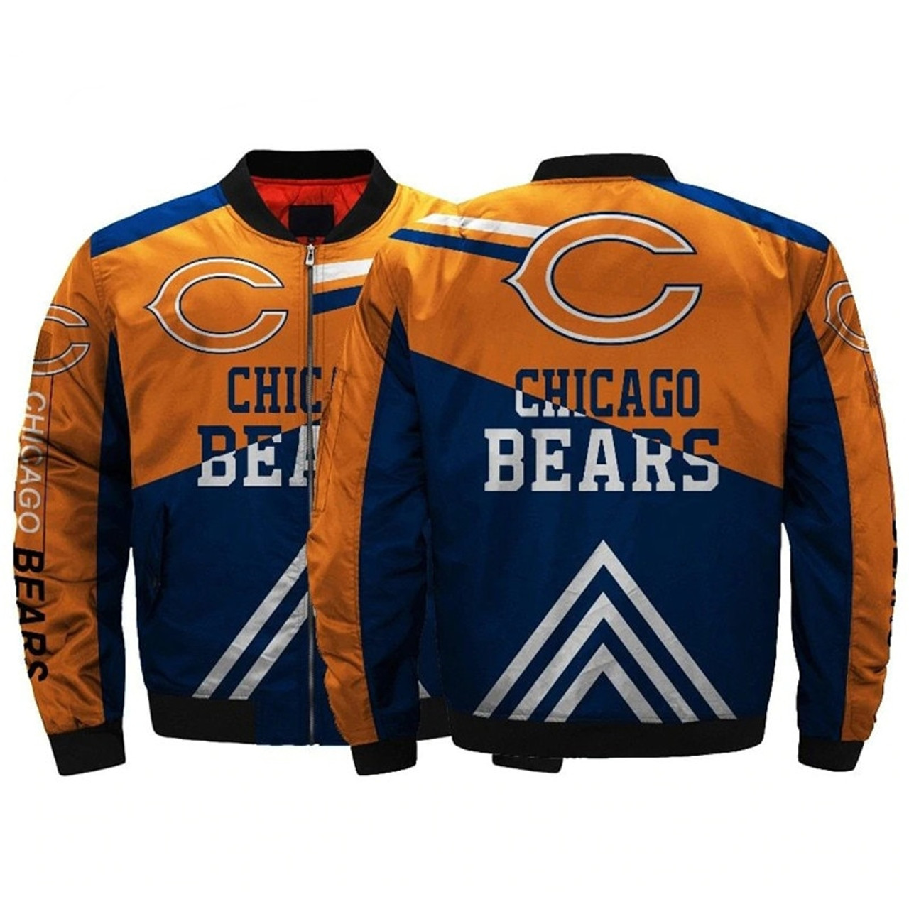 brand new 165d0 49b96 **(OFFICIALLY-LICENSED-N.F.L.CHICAGO-BEARS-JACKETS/CLASSIC-BEARS-TEAM-COLORS  & OFFICIAL-BEARS-LOGOS,BOMBER/MA-1 ...