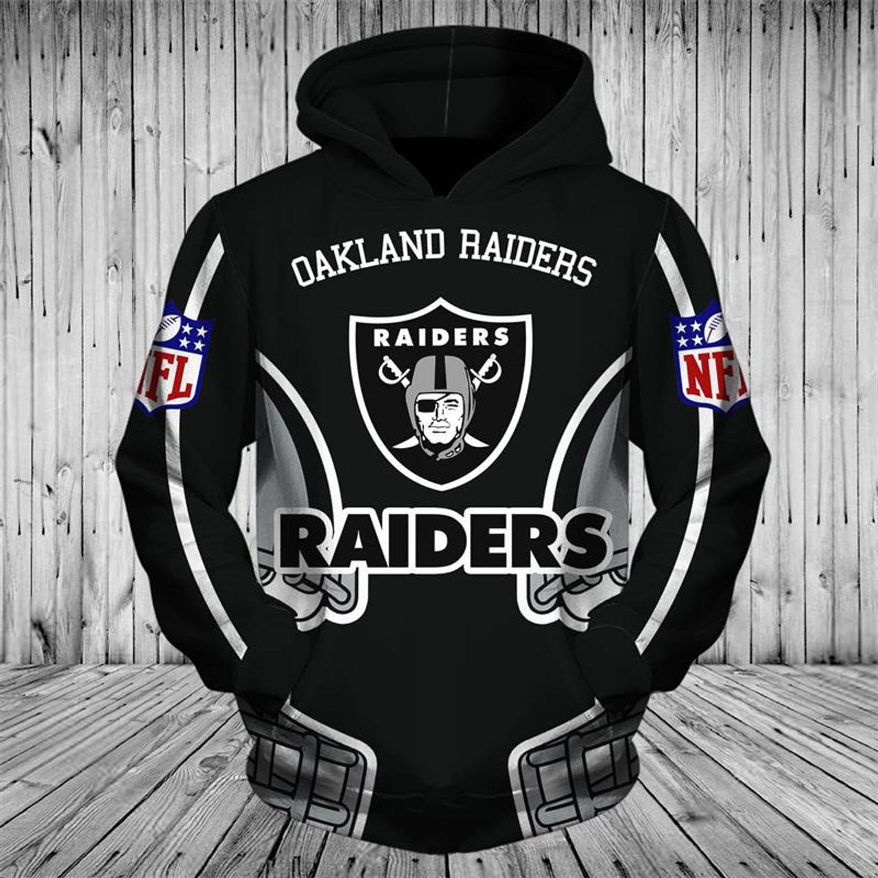 Hot OFFICIALLY LICENSED N.F.L.OAKLAND RAIDERS TEAM PULLOVER HOODIESNICE  hot sale