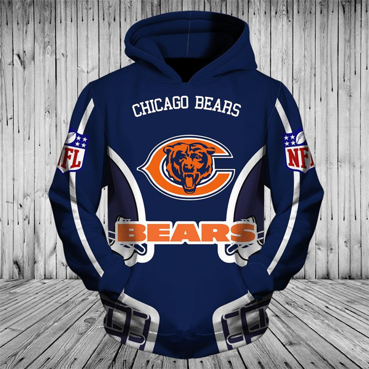 outlet store 6e8a6 ad2f1 **(OFFICIALLY-LICENSED-N.F.L.CHICAGO-BEARS-TRENDY-PULLOVER-POCKET-HOODIES/CUSTOM-ALL-OVER-GRAPHIC-3D-PRINTED-IN-BEARS-TEAM-LOGOS  & ...