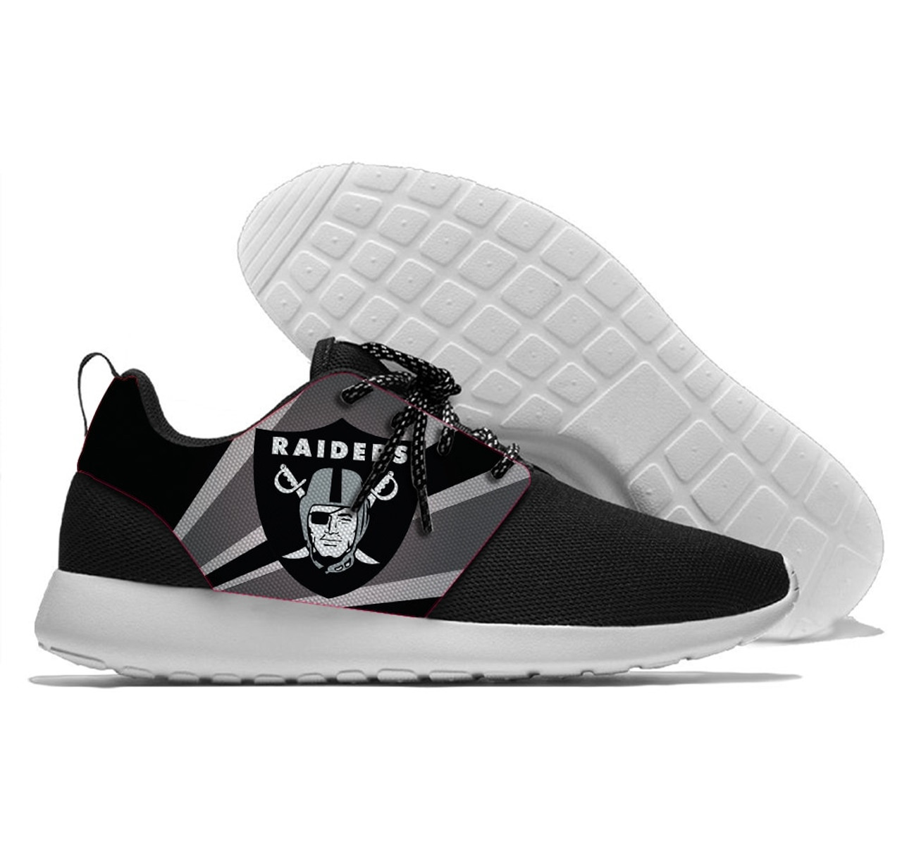 Hot NEW OFFICIALLY LICENSED N.F.L.OAKLAND RAIDERS RUNNING SHOES,MENS OR  for sale