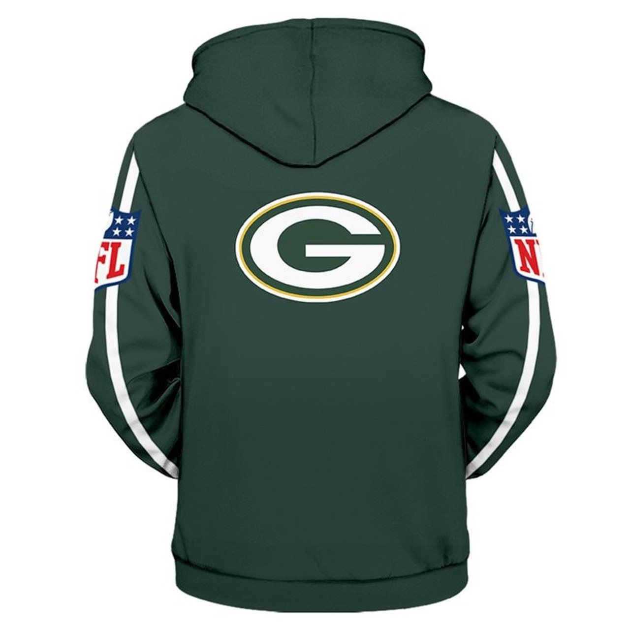 buy popular 55167 eeac6 **(OFFICIALLY-LICENSED-N.F.L.GREEN-BAY-PACKERS-TEAM-PULLOVER-HOODIES/NICE-CUSTOM-3D-GRAPHIC-PRINTED-DOUBLE-SIDED-ALL-OVER-OFFICIAL-PACKERS-LOGOS  & ...