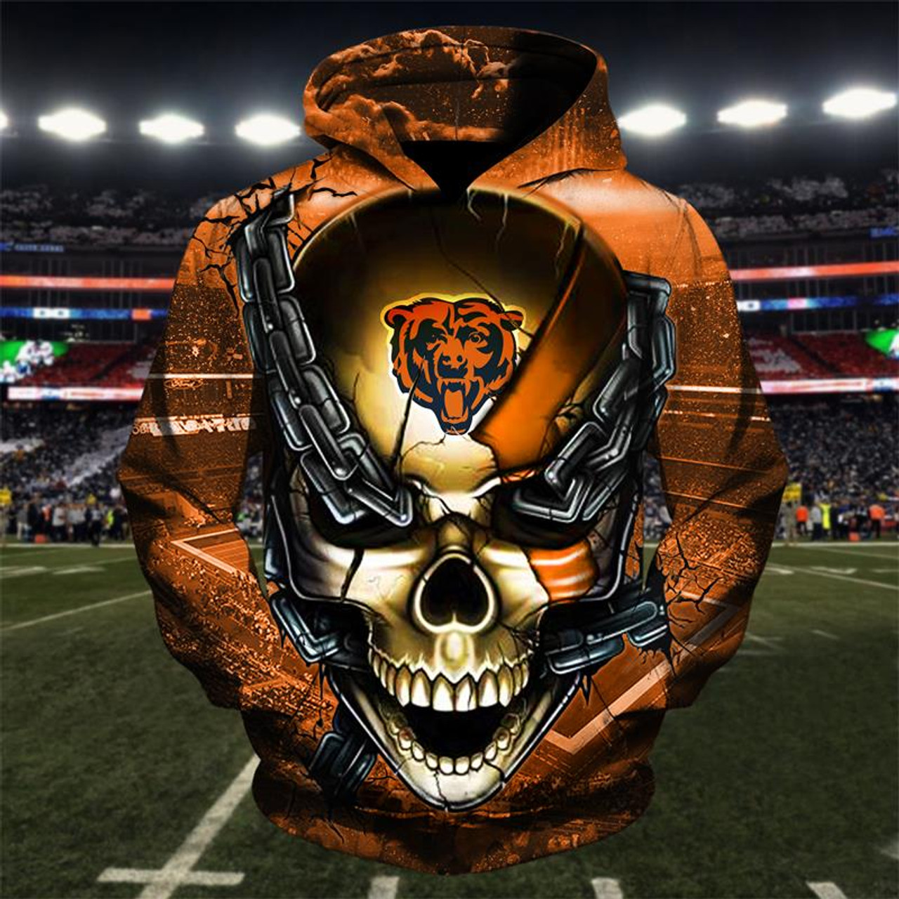 6d5fb478 **(OFFICIAL-N.F.L.CHICAGO-BEARS-TEAM-FOOTBALL-PULLOVER-HOODIES &  OFFICIAL-BEARS-TEAM-LOGO-SKULL/CHICAGO-CITY-CHAINS,NICE-CUSTOM-3D-GRAPHIC-PRINTED-DOU...
