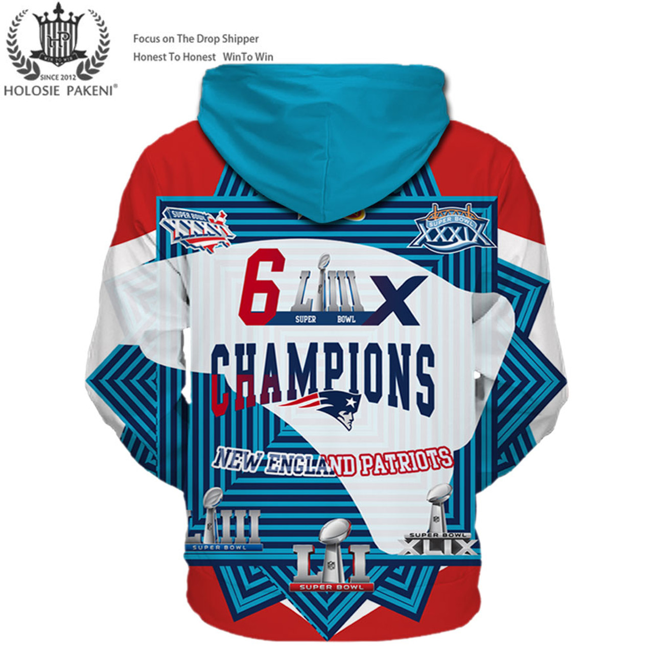 **(OFFICIAL-N.F.L.NEW-ENGLAND-PATRIOTS-CUSTOM-SUPER-BOWL-LIII-CHAMPIONS-PREMIUM-PULLOVER-HOODIES/SIX-TIMES-SUPER-BOWL-CHAMPION-WINNERS/CUSTOM-3D-GRAPHIC-DOUBLE-SIDED-PRINTING/WITH-OFFICIAL-PATRIOTS-LOGOS & OFFICIAL-NFL-PATRIOTS-TEAM-COLORS-HOODIES)**