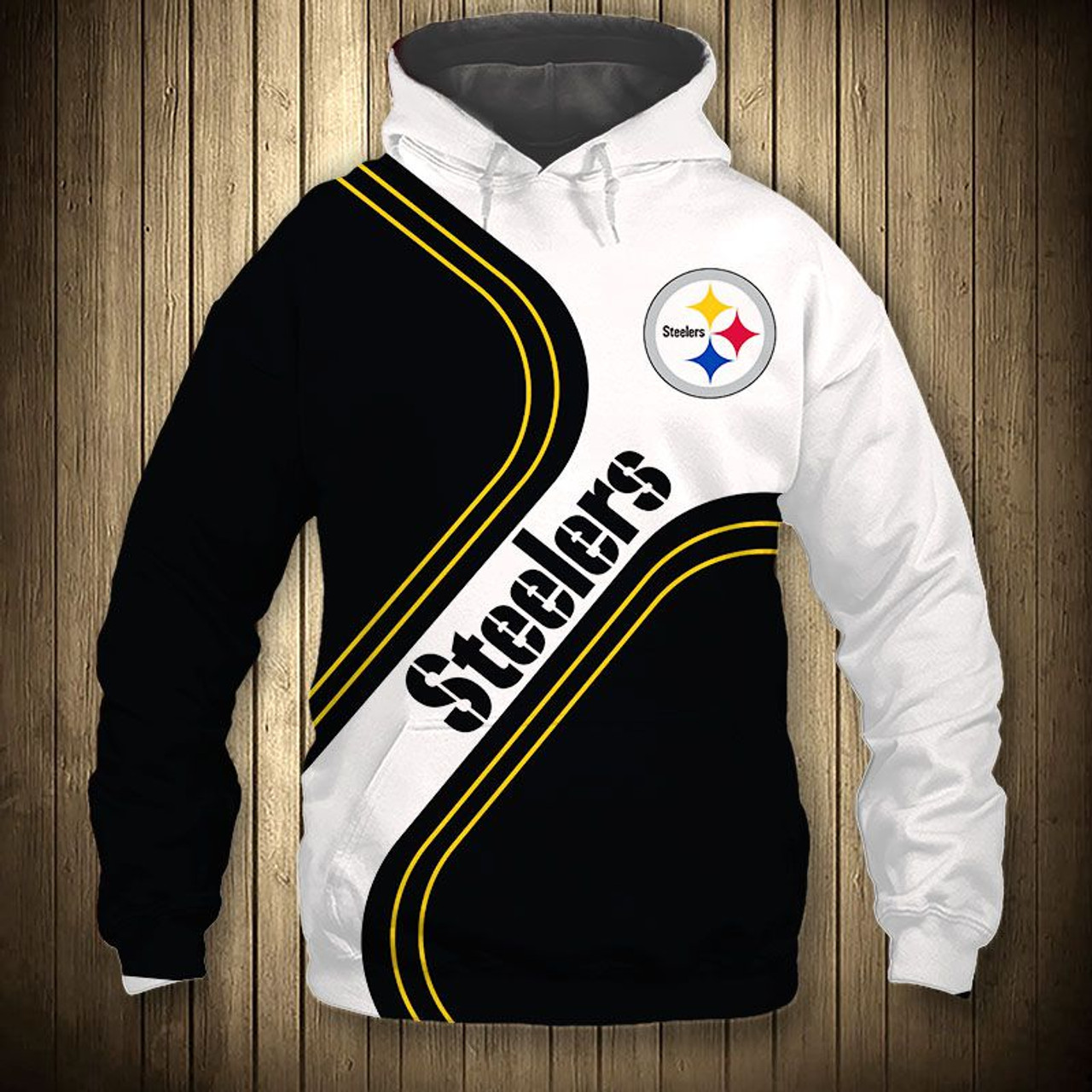 cheap for discount 9f7cd b1326 **(OFFICIAL-NEW-N.F.L.PITTSBURGH-STEELERS-TEAM-PULLOVER-HOODIES/NEW-CUSTOM-3D-GRAPHIC-PRINTED-DOUBLE-SIDED-DESIGN/ALL-OVER-OFFICIAL-CLASSIC-STEELERS-L...