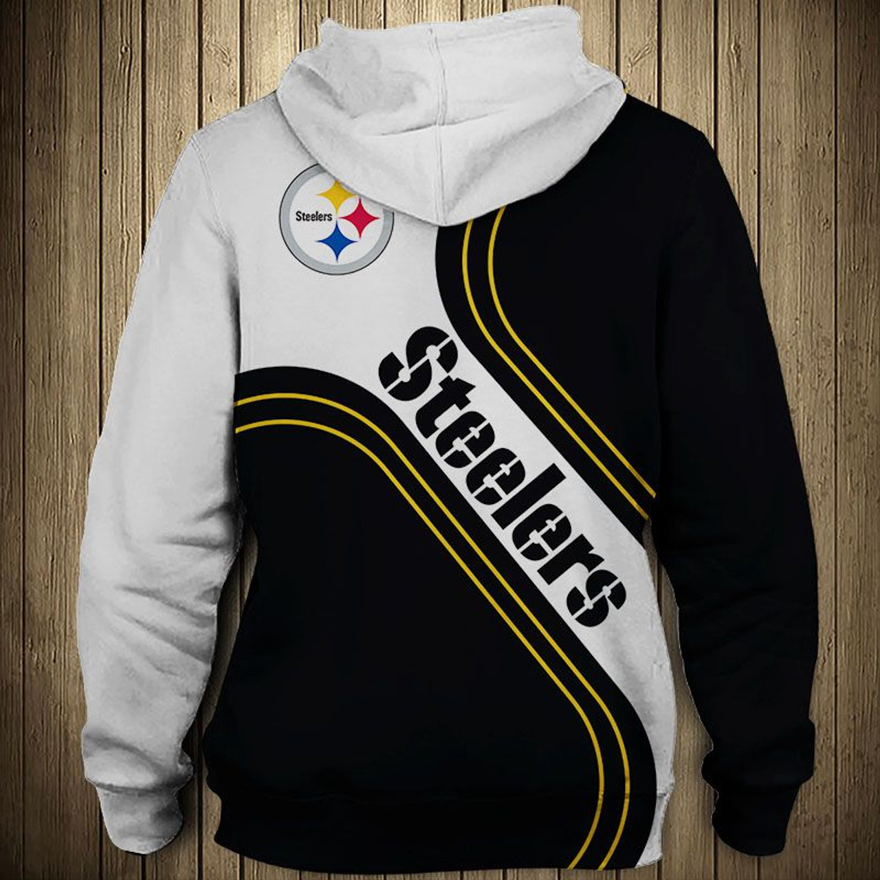 cheap for discount a93b7 6588a **(OFFICIAL-NEW-N.F.L.PITTSBURGH-STEELERS-TEAM-PULLOVER-HOODIES/NEW-CUSTOM-3D-GRAPHIC-PRINTED-DOUBLE-SIDED-DESIGN/ALL-OVER-OFFICIAL-CLASSIC-STEELERS-L...