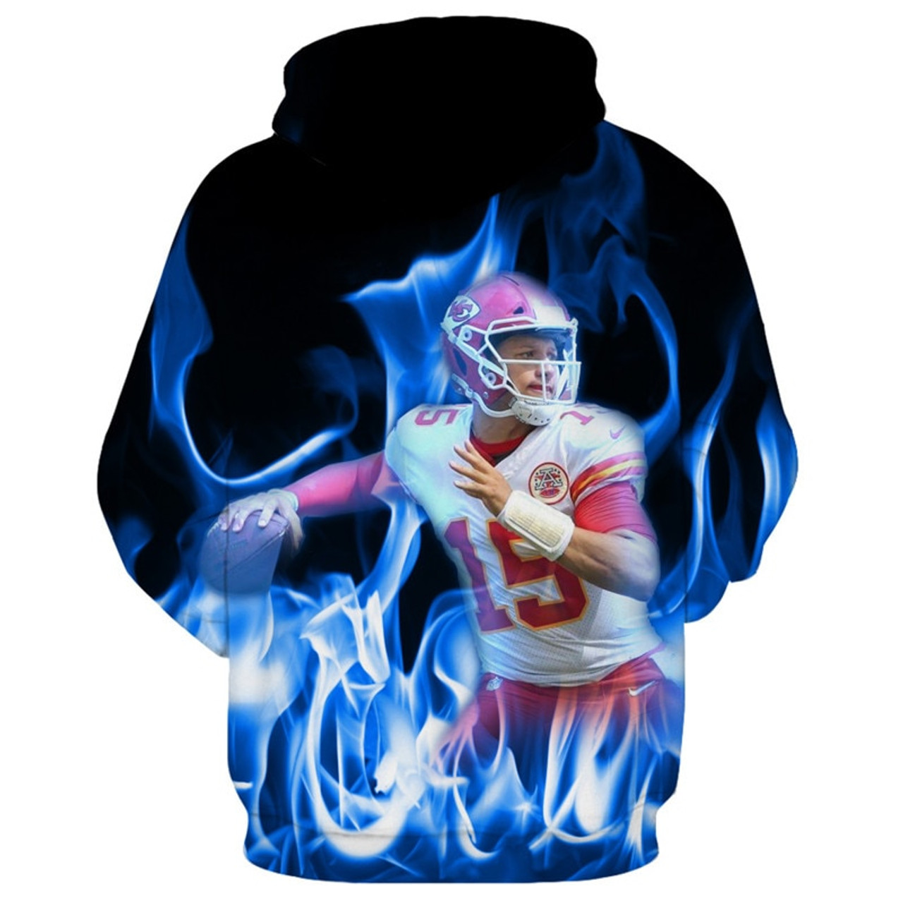 **(NEW-OFFICIALLY-LICENSED-N.F.L.KANSAS-CITY-CHIEFS,OFFICIAL-TEAM-HOODIES/NEW-CUSTOM-DETAILED-3D-GRAPHIC-PRINTED/PREMIUM-ALL-OVER-DOUBLE-SIDED-GRAPHICS/OFFICIAL-CHIEFS-TEAM-COLORS & CLASSIC-CHIEFS-LOGOS/PATRICK-MAHOMES-NO.15-PULLOVER-TEAM-HOODIES)**
