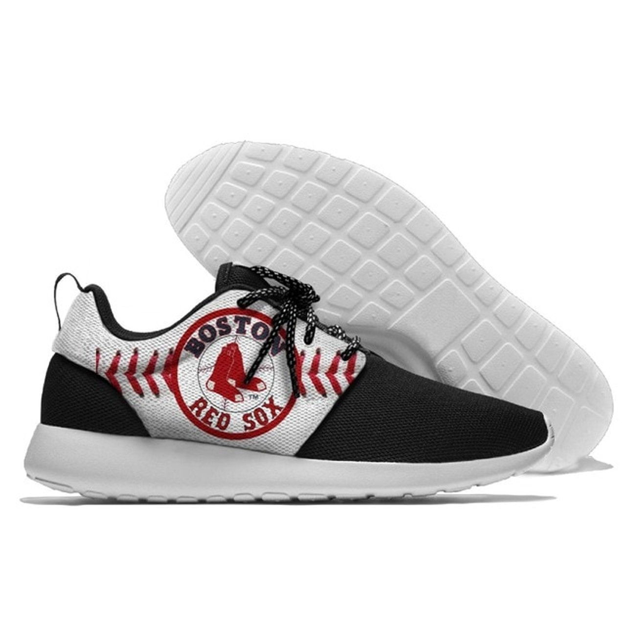 **(NEW-OFFICIALLY-LICENSED-M.L.B.BOSTON-RED-SOXS-RUNNING-SHOES,MENS-OR-WOMENS-ROSHE-STYLE,LIGHT-WEIGHT-SPORT-PREMIUM-RUNNING-SHOES/WITH-OFFICIAL-RED-SOXS-TEAM-COLORS & RED-SOXS-TEAM-LOGOS,SPECIAL-CUSHIONED-COMFORT-INSOLES/COMES-IN-ALL-SIZES:)**