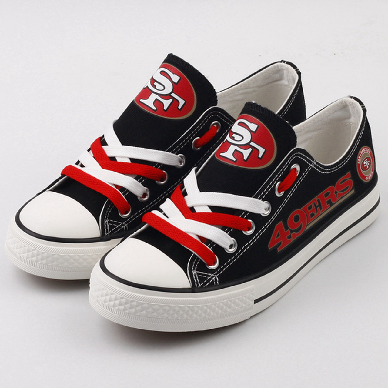 7cece741 **(NEW-OFFICIALLY-LICENSED-N.F.L.SAN-FRANCISCO-49ERS-RUNNING-SHOES,MENS-OR-WOMENS-ROSHE-STYLE,LIGHT-WEIGHT-SPORT-PREMIUM-RUNNING-SHOES/WITH-OFFICIAL-4...