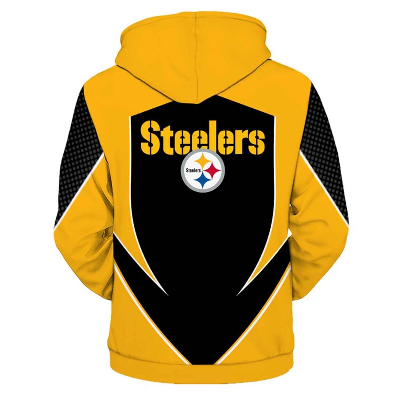 *(OFFICIAL-N.F.L.PITTSBURGH-STEELERS-TEAM-PULLOVER-HOODIES/NEW-CUSTOM-3D-GRAPHIC-PRINTED-DOUBLE-SIDED-DESIGN/ALL-OVER-OFFICIAL-CLASSIC-STEELERS-LOGOS & IN-STEELERS-TEAM-COLORS/WARM-PREMIUM-OFFICIAL-N.F.L.STEELERS-TEAM-PULLOVER-DEEP-POCKET-HOODIES)*