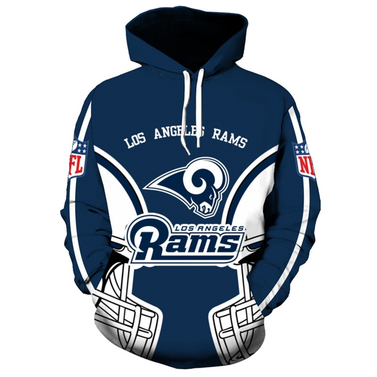 **(OFFICIALLY-LICENSED-N.F.L.LOS-ANGELES-RAMS-TRENDY-PULLOVER-TEAM-HOODIES/NICE-CUSTOM-3D-GRAPHIC-PRINTED-DOUBLE-SIDED-ALL-OVER-OFFICIAL-RAMS-LOGOS & RAMS-OFFICIAL-TEAM-COLORS/WARM-PREMIUM-OFFICIAL-N.F.L.RAMS-TEAM-PULLOVER-POCKET-HOODIES)**