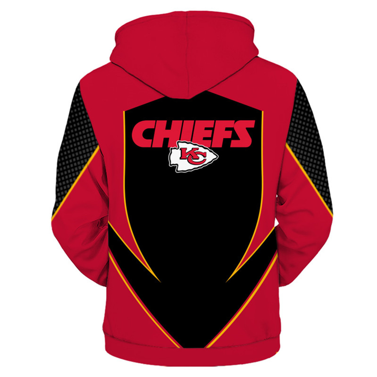 new product b5bb3 378c3 **(OFFICIALLY-LICENSED-N.F.L.KANSAS-CITY-CHIEFS-TEAM-ZIPPERED-HOODIES/NEW-CUSTOM-3D-GRAPHIC-PRINTED-DOUBLE-SIDED-DESIGNED/ALL-OVER-OFFICIAL-CHIEFS-LOG...