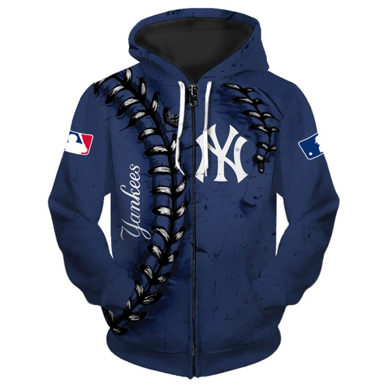 **(OFFICIALLY-LICENSED-M.L.B. NEW-YORK-YANKEES-TEAM-HOODIES/NICE-CUSTOM-DETAILED-3D-GRAPHIC-PRINTED/PREMIUM-ALL-OVER-DOUBLE-SIDED-PRINT/OFFICIAL-YANKEES-TEAM-COLORS & CLASSIC-YANKEES-BASEBALL-3D-STITCHING-GRAPHICS/PREMIUM-ZIPPERED-FRONT-HOODIES)**