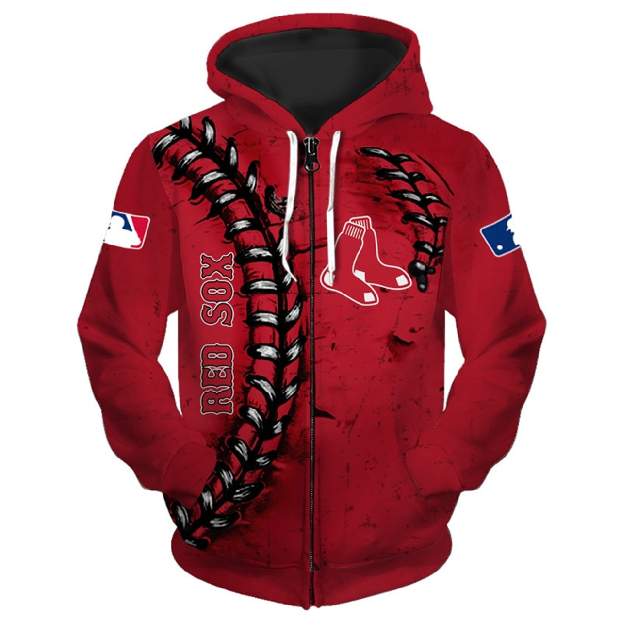 **(OFFICIALLY-LICENSED-M.L.B.BOSTON-RED-SOXS-TEAM-HOODIES/NICE-CUSTOM-DETAILED-3D-GRAPHIC-PRINTED/PREMIUM-ALL-OVER-DOUBLE-SIDED-PRINT/OFFICIAL-RED-SOXS-TEAM-COLORS & CLASSIC-RED-SOXS-BASEBALL-3D-STITCHING-GRAPHICS/PREMIUM-ZIPPERED-FRONT-HOODIES)**