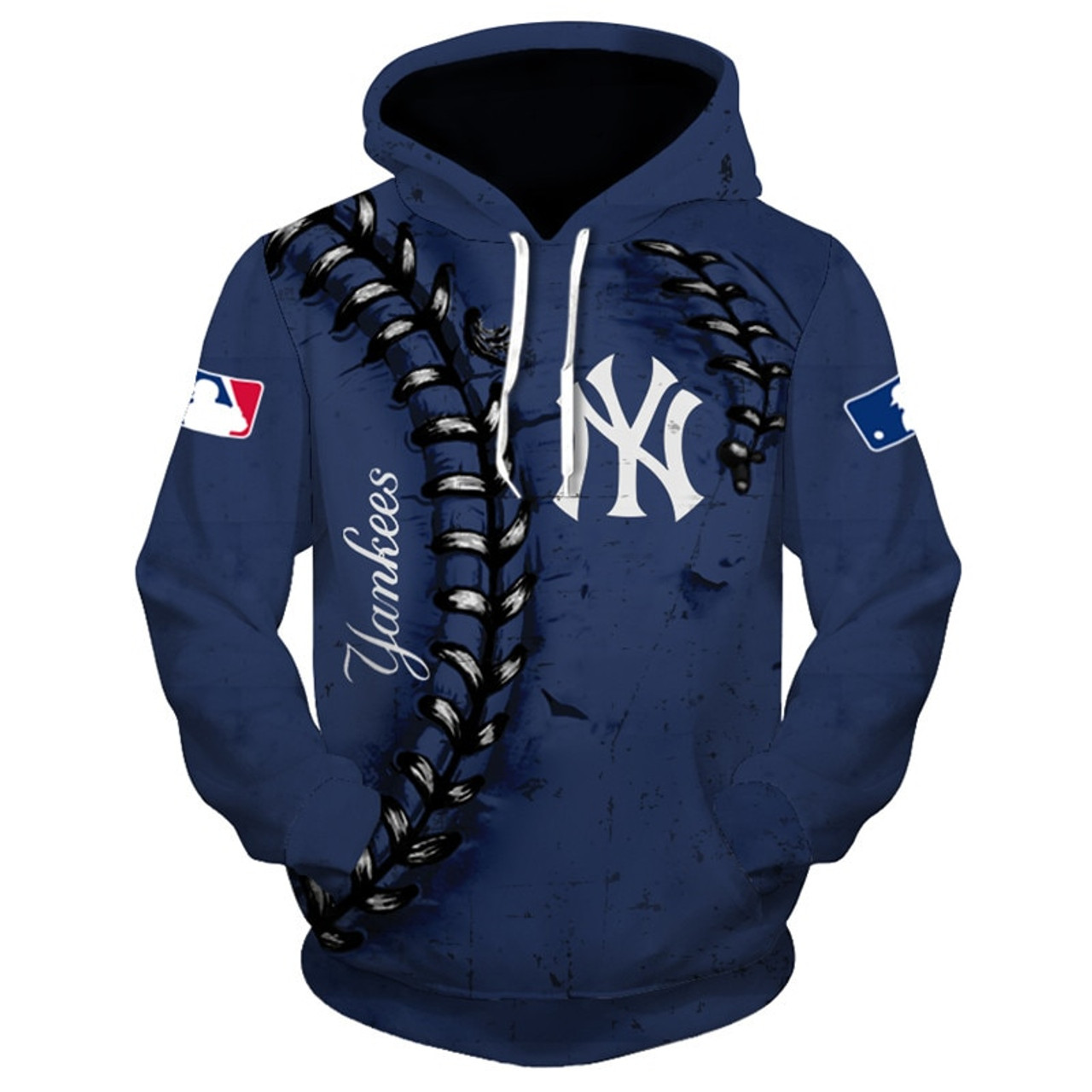 sale retailer 4f03f 42fc3 **(OFFICIALLY-LICENSED-M.L.B.  NEW-YORK-YANKEES-TEAM-HOODIES/NICE-CUSTOM-DETAILED-3D-GRAPHIC-PRINTED/PREMIUM-ALL-OVER-DOUBLE-SIDED-PRINT/OFFICIAL-YANKE...