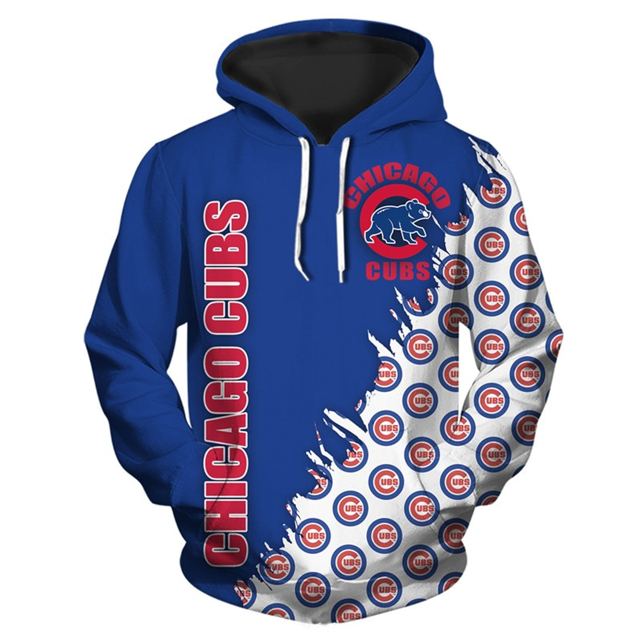 new arrival 777de db240 **(OFFICIALLY-LICENSED-M.L.B.CHICAGO-CUBS-TEAM-PULLOVER-HOODIES/NICE-CUSTOM-DETAILED-3D-GRAPHIC-PRINTED/PREMIUM-ALL-OVER-DOUBLE-SIDED-PRINT/OFFICIAL-C...