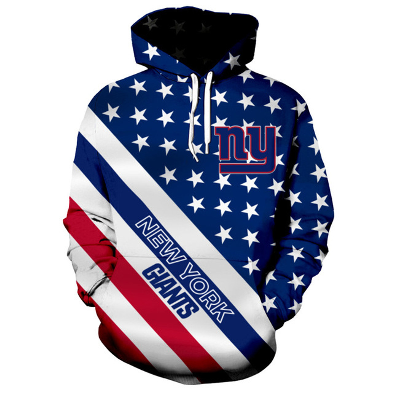 pretty nice bfeb3 58c8f **(OFFICIALLY-LICENSED-N.F.L.NEW-YORK-GIANTS-TRENDY-PATRIOTIC-PULLOVER-TEAM-HOODIES/NICE-CUSTOM-3D-EFFECT-GRAPHIC-PRINTED-DOUBLE-SIDED-ALL-OVER-OFFICI...
