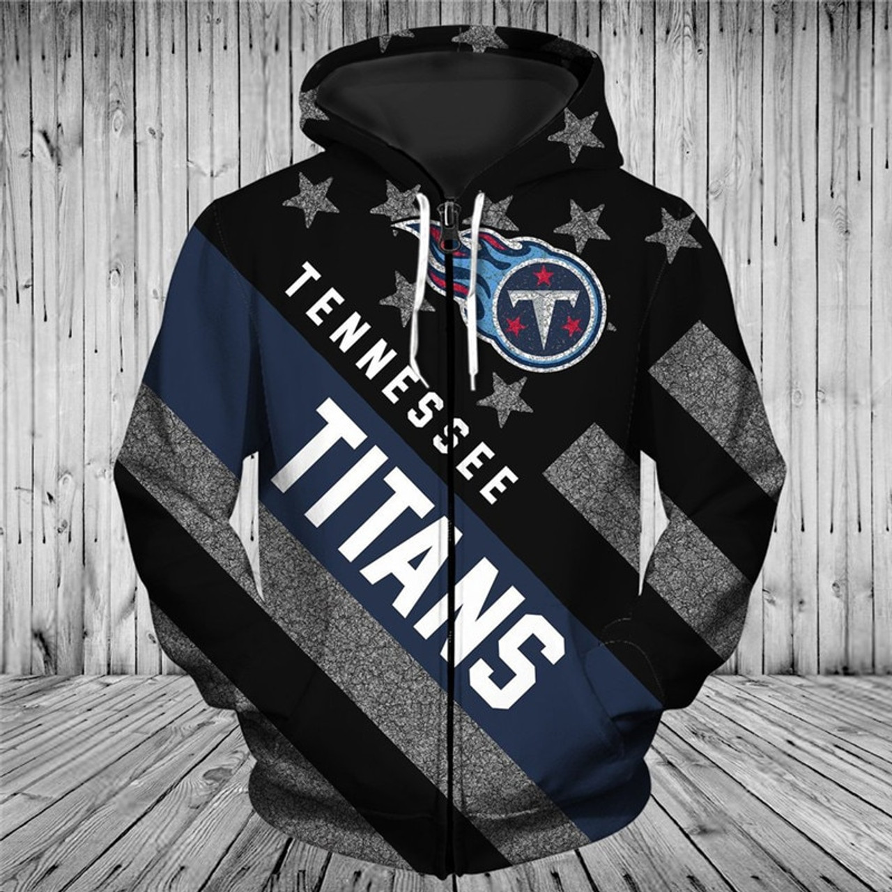 Discount OFFICIAL N.F.L.NEW TENNESSEE TITANS TRENDY PATRIOTIC ZIPPERED TEAM  free shipping