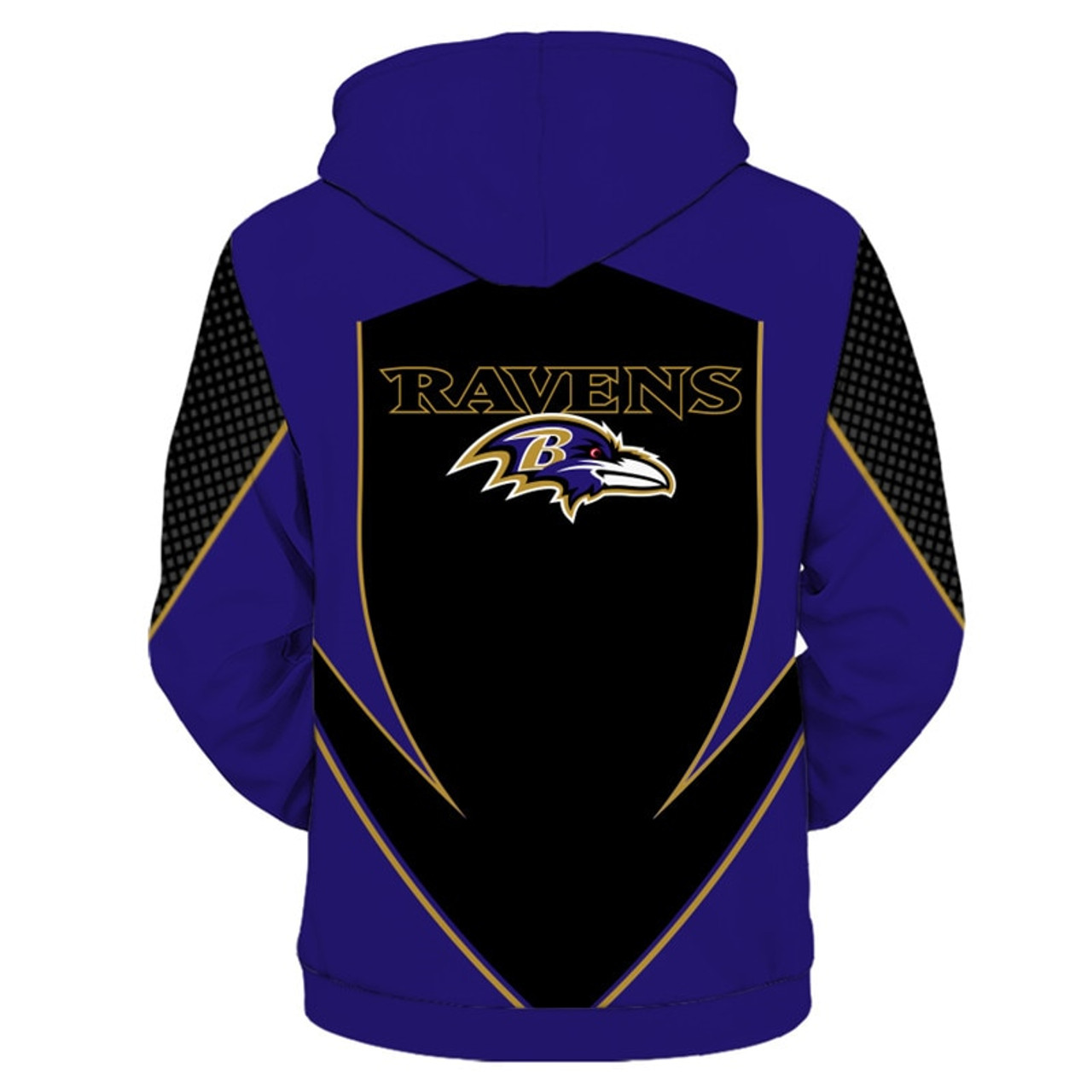 OFFICIAL N.F.L.BALTIMORE RAVENS TEAM PULLOVER HOODIESNEW CUSTOM 3D  for sale