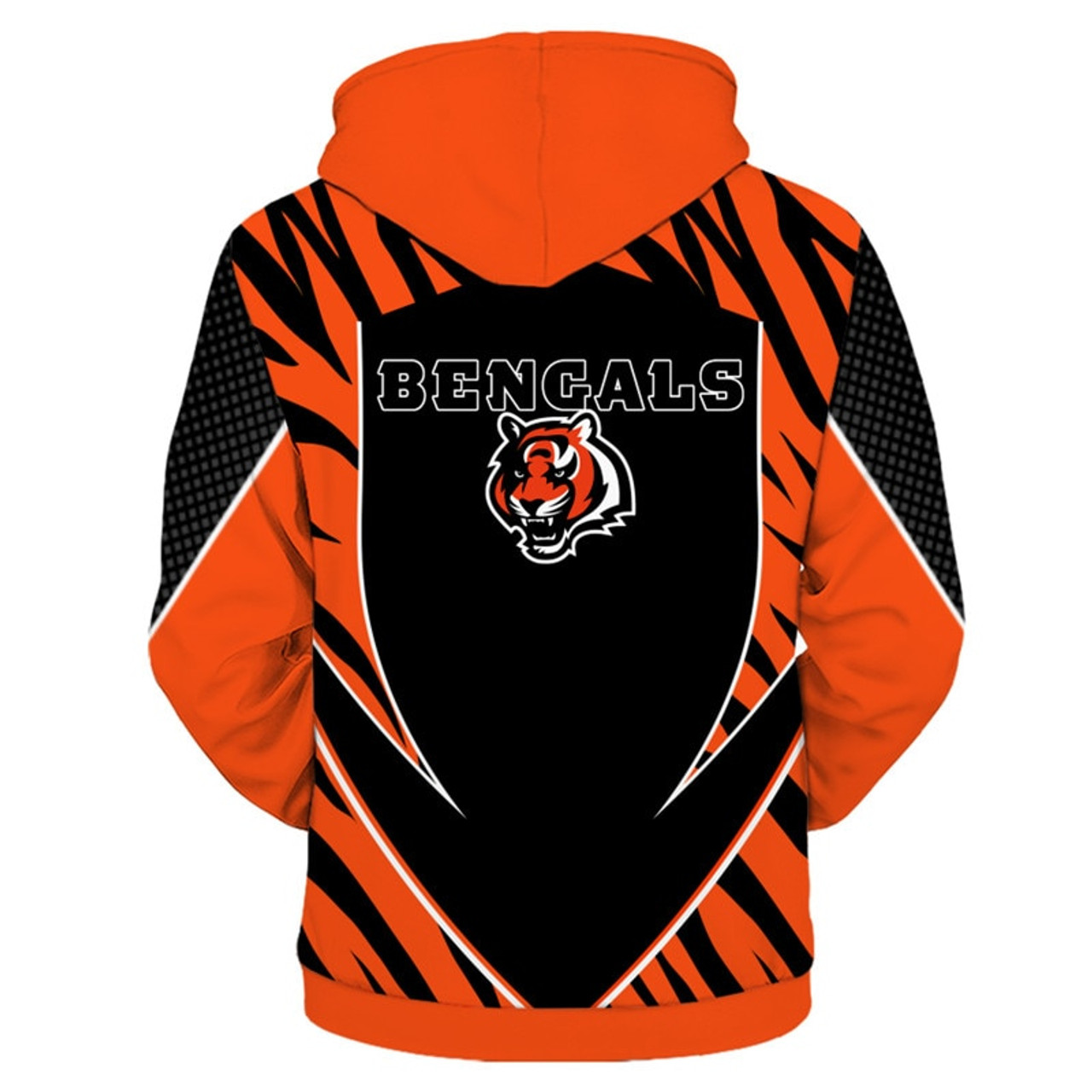 08a8a950 **(OFFICIAL-N.F.L.CINCINNATI-BENGALS-TEAM-PULLOVER-HOODIES/NEW-CUSTOM-3D-GRAPHIC-PRINTED-DOUBLE-SIDED-DESIGNED/ALL-OVER-OFFICIAL-BENGALS-LOGOS  & ...