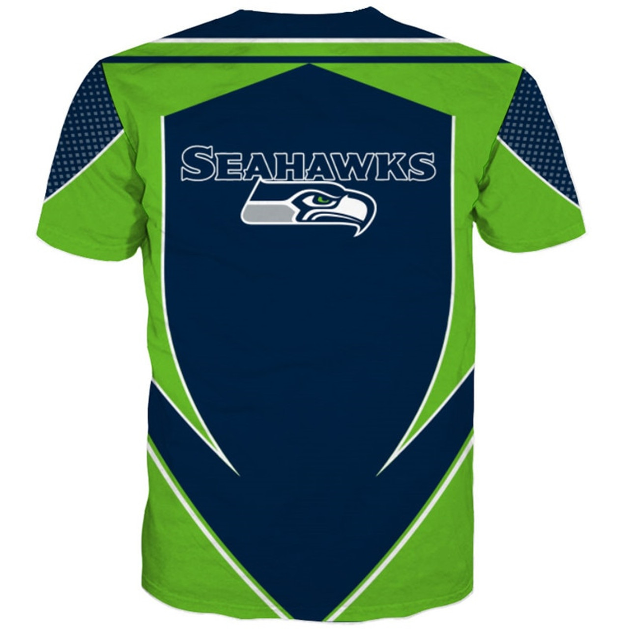 4a80ed3e **(OFFICIALLY-LICENSED-N.F.L.SEATTLE-SEAHAWKS-TEAM-TEES/NEW-CUSTOM-3D-EFFECT-GRAPHIC-PRINTED-DOUBLE-SIDED-DESIGNED/ALL-OVER-OFFICIAL-SEAHAWKS-LOGOS  & ...