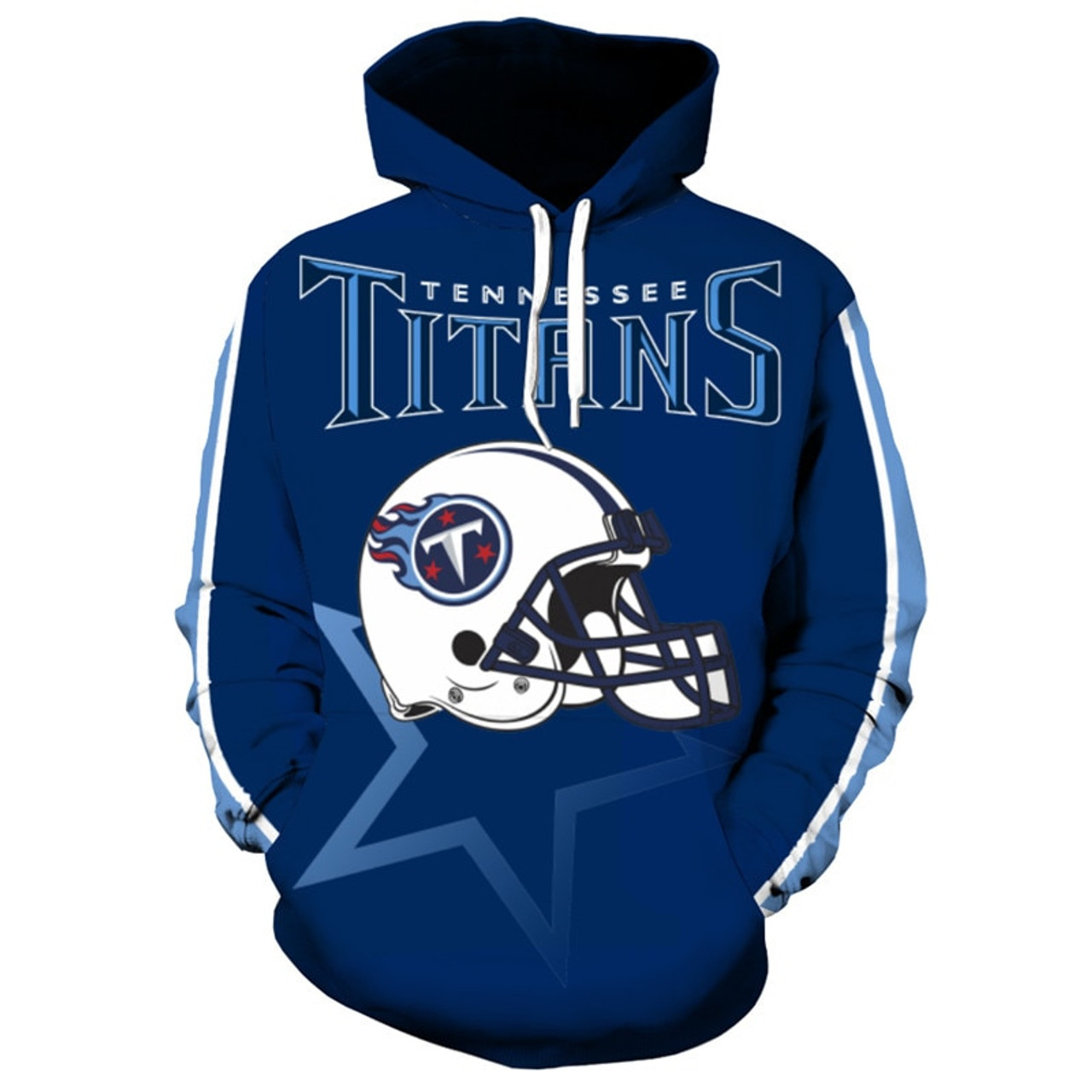 092864f4 **(OFFICIALLY-LICENSED-N.F.L.TENNESSEE-TITANS-TRENDY-PULLOVER-TEAM-HOODIES/NICE-CUSTOM-3D-EFFECT-GRAPHIC-PRINTED-DOUBLE-SIDED-ALL-OVER-OFFICIAL-TITANS...
