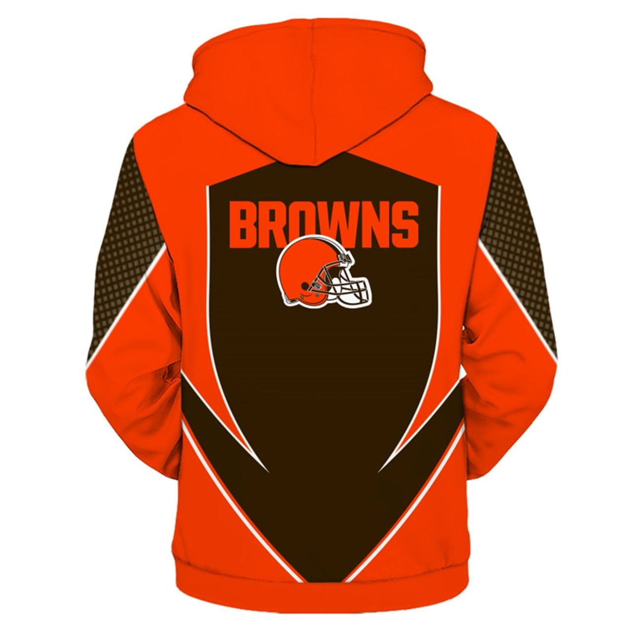save off 045f5 b1030 **(OFFICIAL-N.F.L.CLEVELAND-BROWNS-TEAM-ZIPPERED-HOODIES/NEW-CUSTOM-3D-GRAPHIC-PRINTED-DOUBLE-SIDED-DESIGNED/ALL-OVER-OFFICIAL-BROWNS-LOGOS  & ...