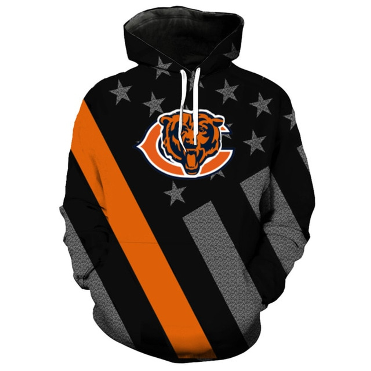 timeless design c2b8d 1d234 **(OFFICIAL-N.F.L.CHICAGO-BEARS-TRENDY-PATRIOTIC-PULLOVER-TEAM-HOODIES/NICE-CUSTOM-3D-EFFECT-GRAPHIC-PRINTED-DOUBLE-SIDED-ALL-OVER-OFFICIAL-BEARS-LOGO...
