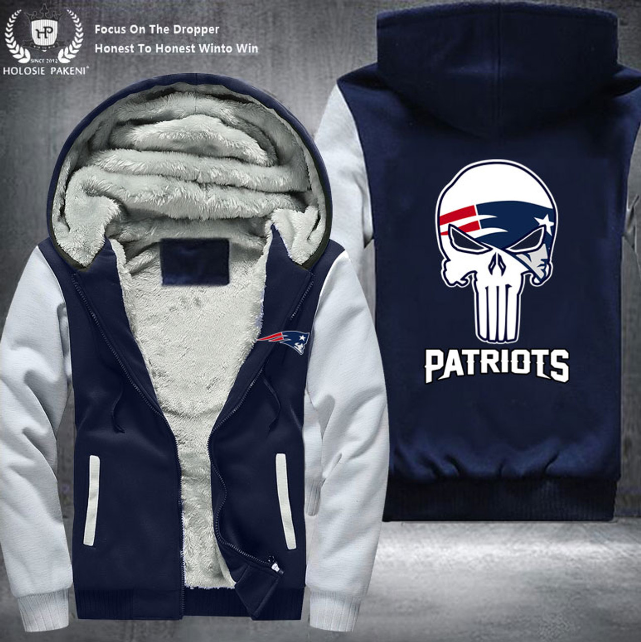 1ae57c8b **(OFFICIAL-N.F.L.NEW-ENGLAND-PATRIOTS-FLEECE-LINNED-ZIPPERED-HOODIES/NICE-CUSTOM-3D-EFFECT-GRAPHIC-DOUBLE-SIDED-  ...