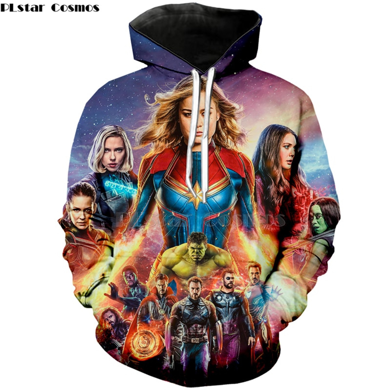 **(ALL-NEW-AVENGERS-ENDGAME-MOVIE/TRENDY-3D-CUSTOM-PULLOVER-HOODIES/ALL-THE-AVENGERS-ENDGAME-MOVIE-CAST & CHARACTERS/3D-CUSTOM-GRAPHIC-PRINTED & DOUBLE-SIDED-DESIGN-PRINTING/PREMIUM-PULLOVER-DEEP-POCKET-HOODIES)**