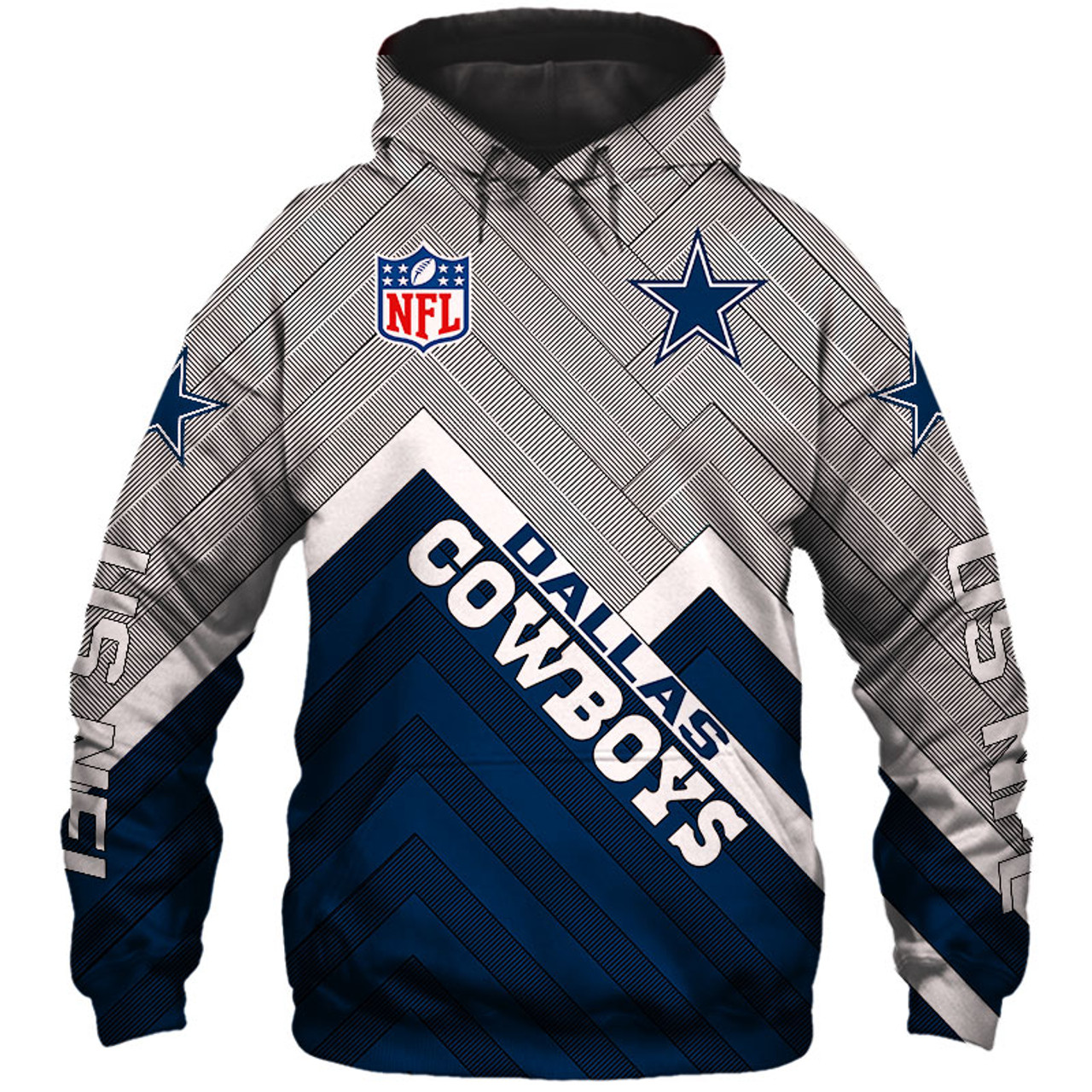 the latest 7de60 e7cd4 **(NEW-OFFICIAL-N.F.L.DALLAS-COWBOYS-PULLOVER-HOODIES/3D-CUSTOM-COWBOYS-LOGOS  & OFFICIAL-COWBOYS-TEAM-COLORS/NICE-3D-GRAPHIC-PRINTED-DOUBLE-SIDED/ALL-...